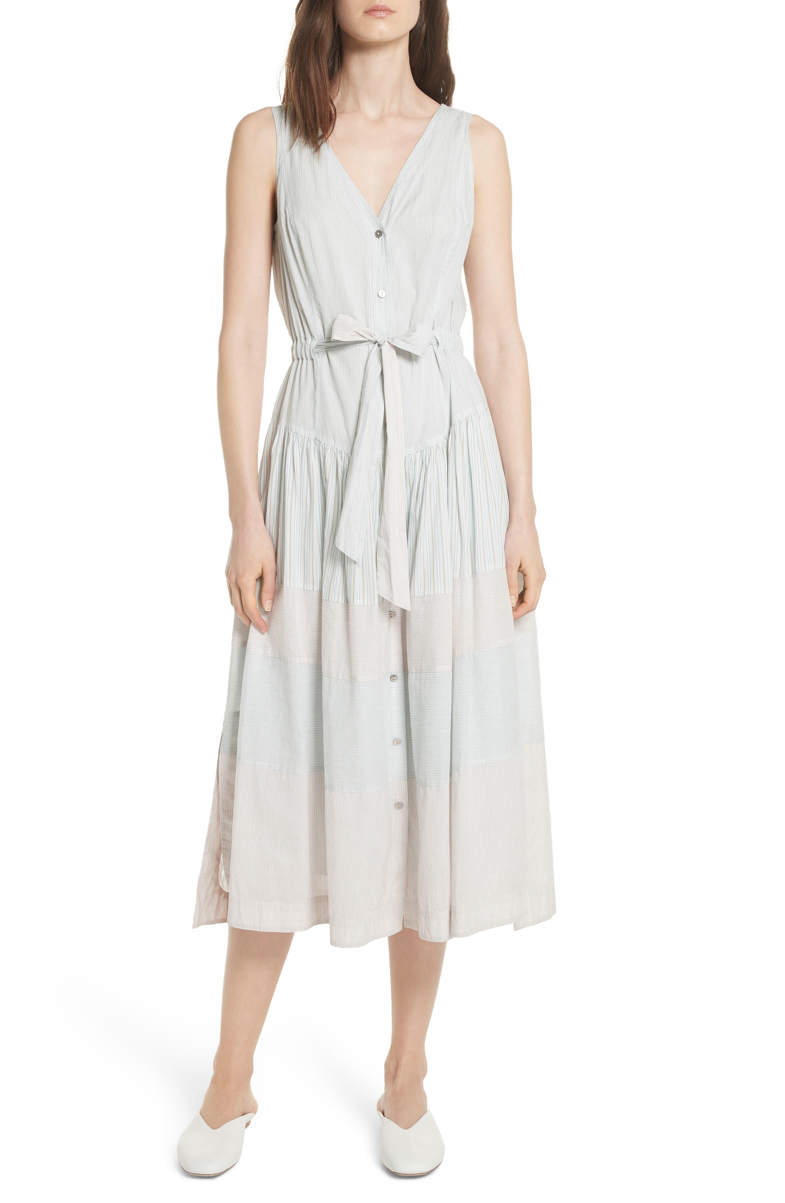 Mix Stripe Cotton Dress,                             Main thumbnail 1, color,                             Multi Combo