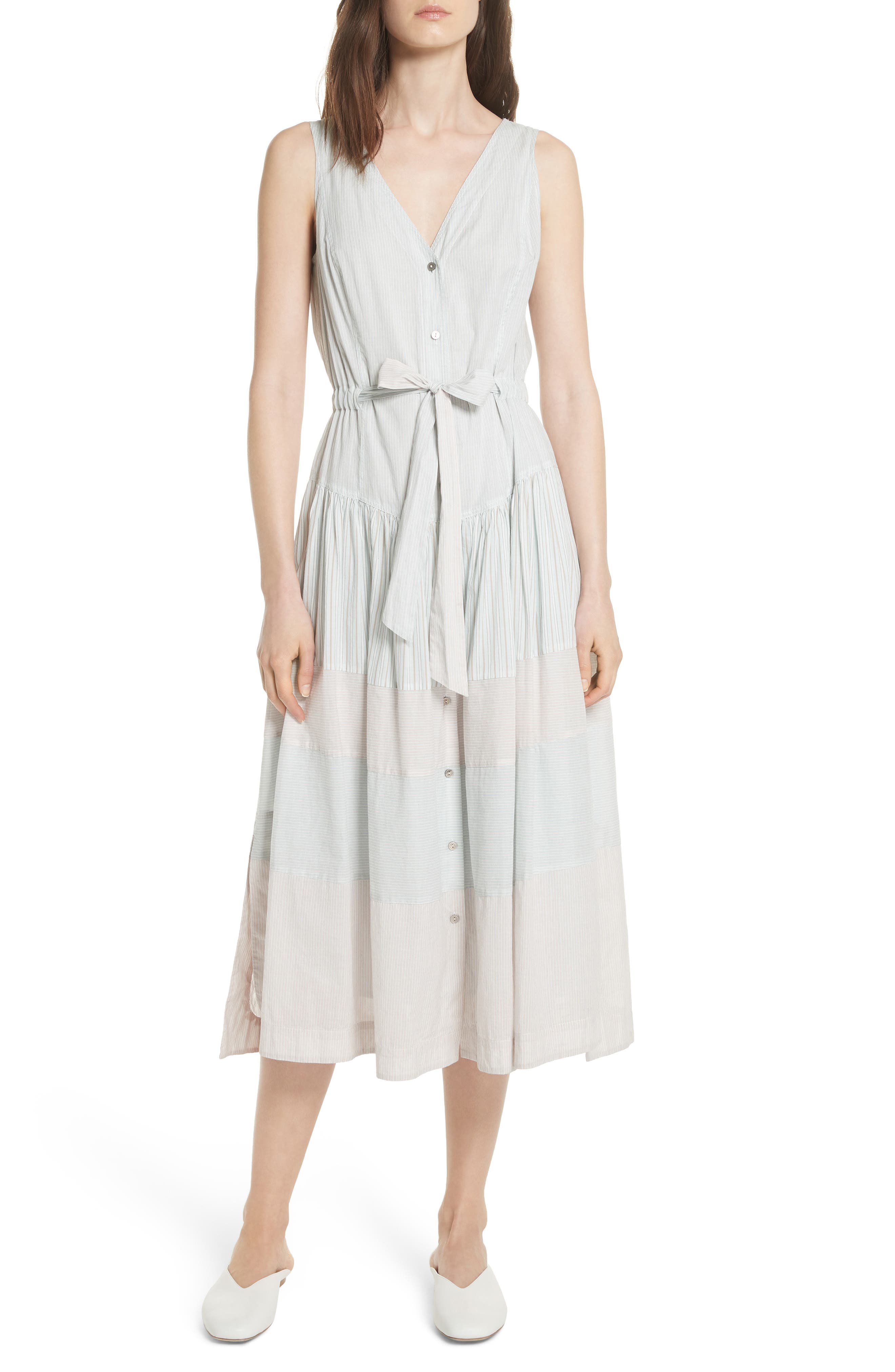 Mix Stripe Cotton Dress,                         Main,                         color, Multi Combo