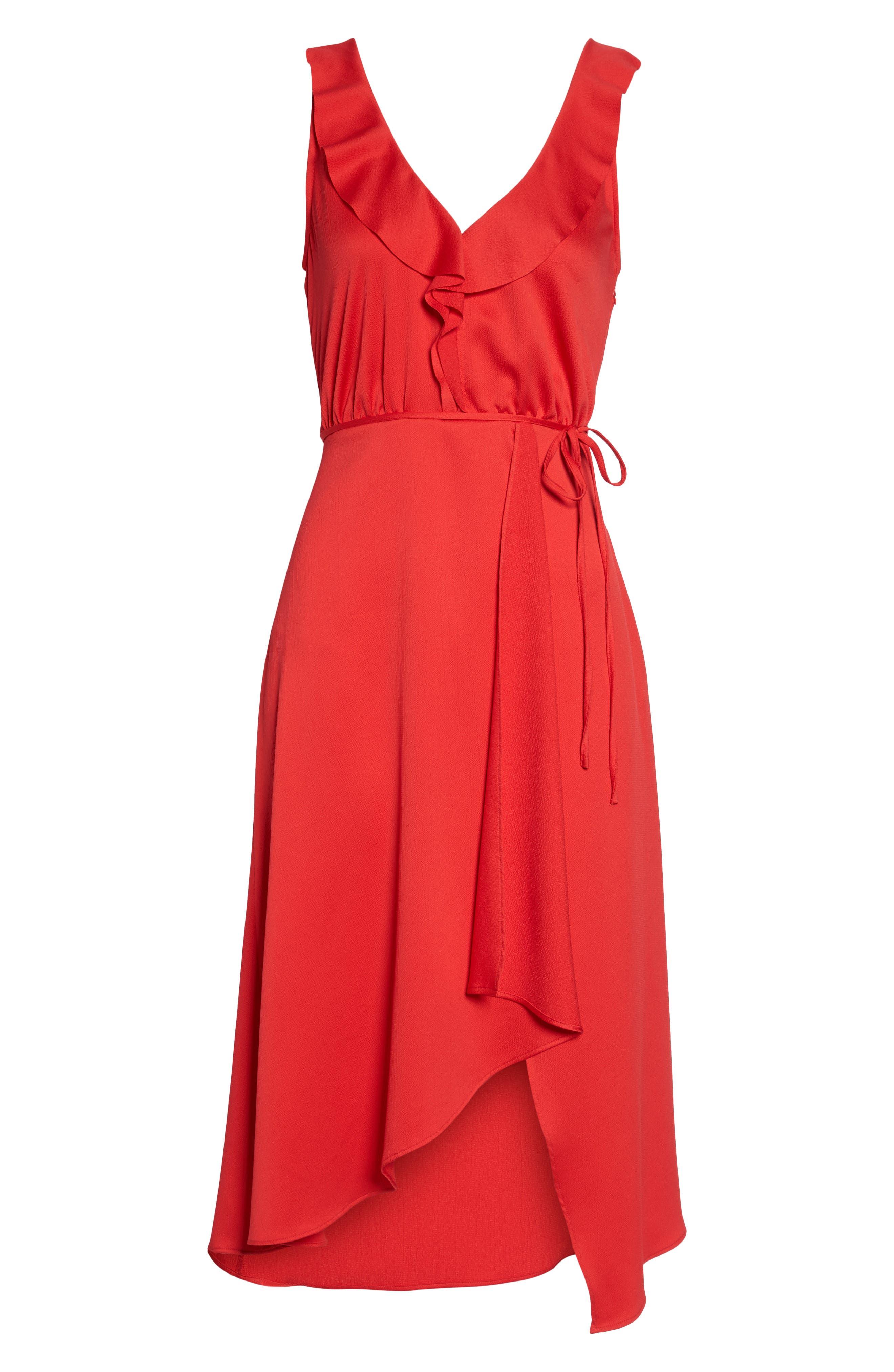 Alternate Image 6  - French Connection Maudie Ruffle Midi Dress