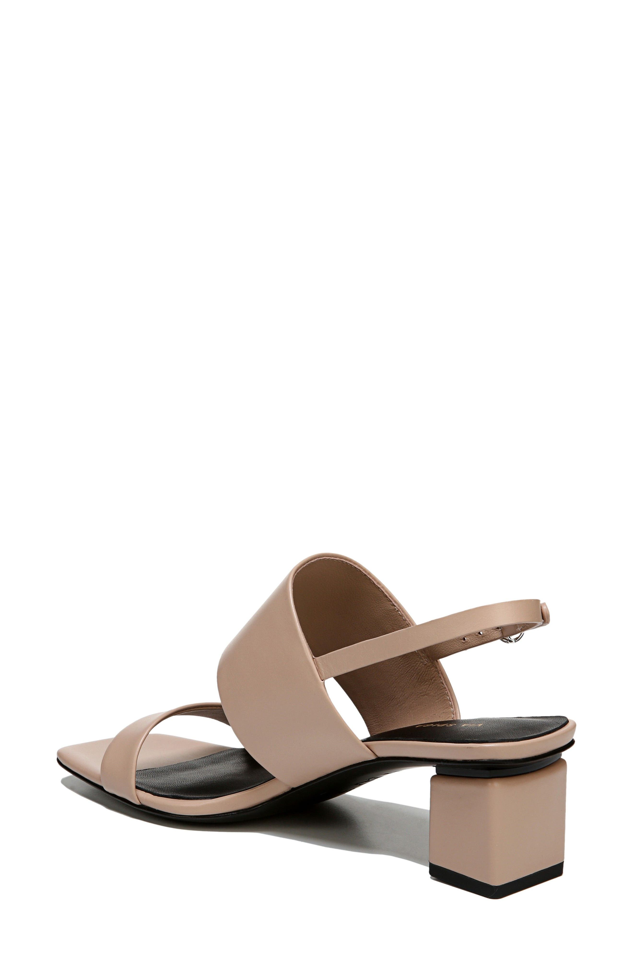 Forte Block Heel Sandal,                             Alternate thumbnail 2, color,                             Sand Patent