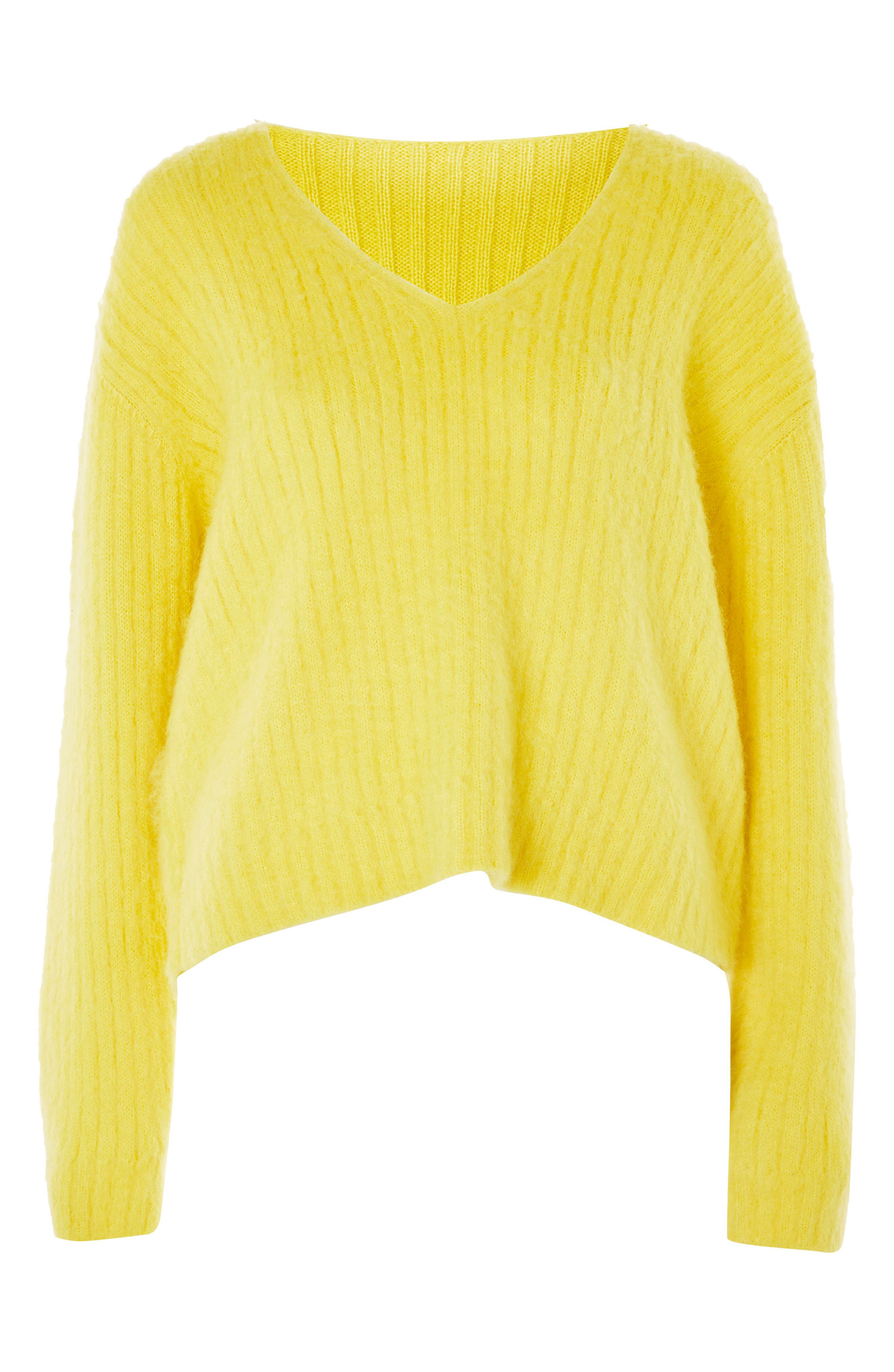 Alternate Image 1 Selected - Topshop Boutique V-Neck Rib Sweater