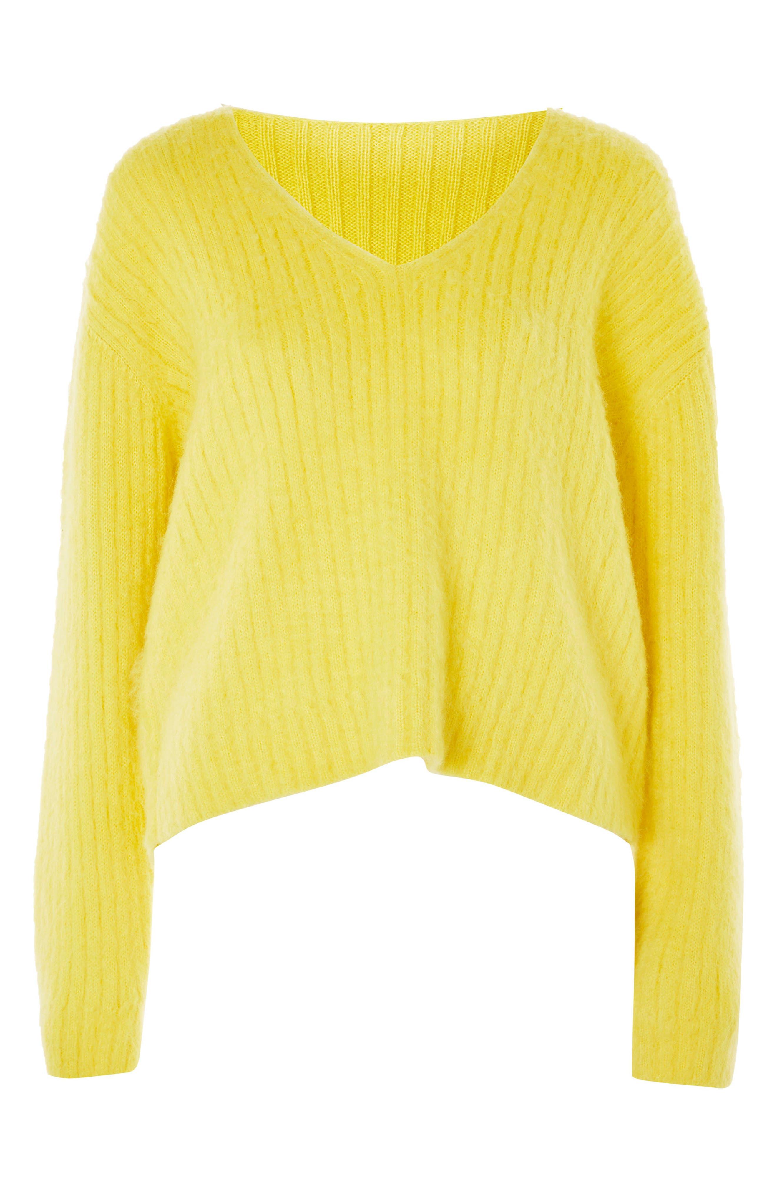 Main Image - Topshop Boutique V-Neck Rib Sweater