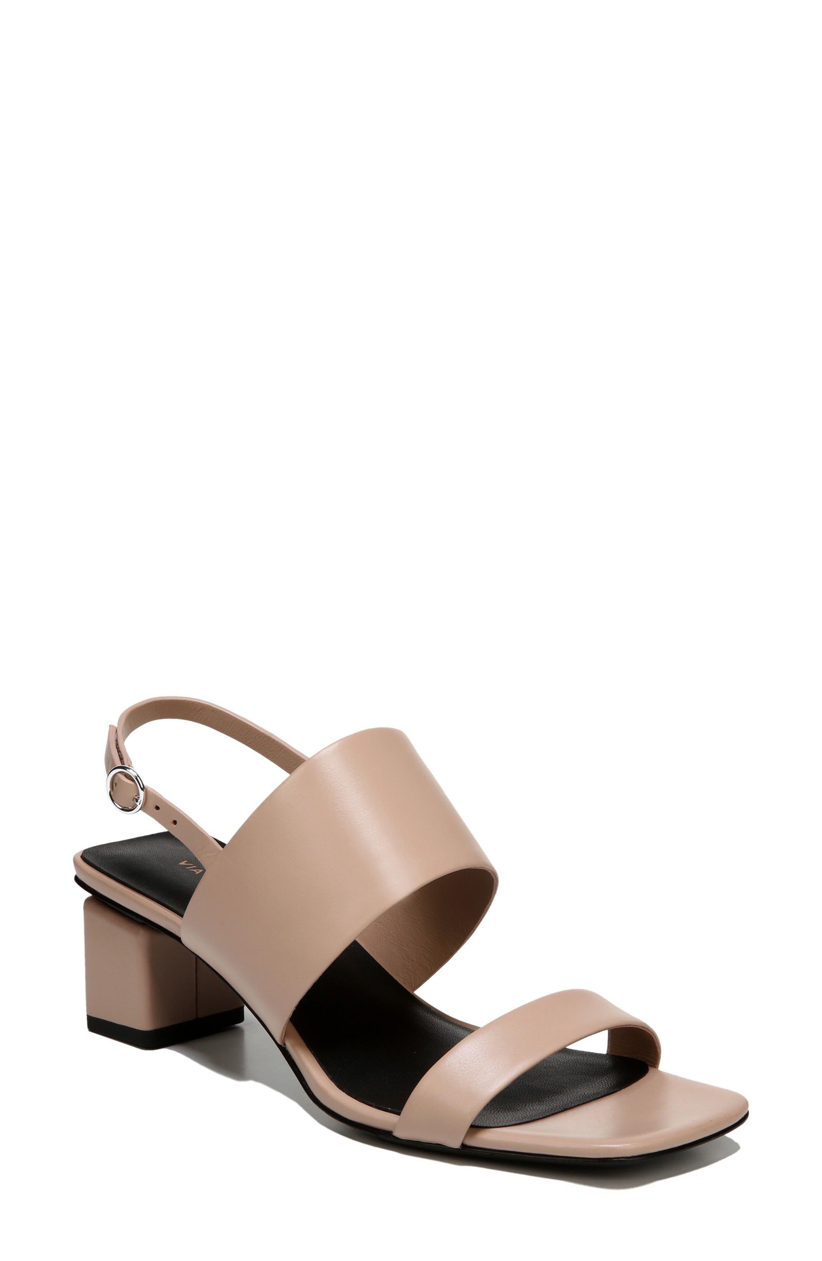 Forte Block Heel Sandal,                             Main thumbnail 1, color,                             Sand Patent
