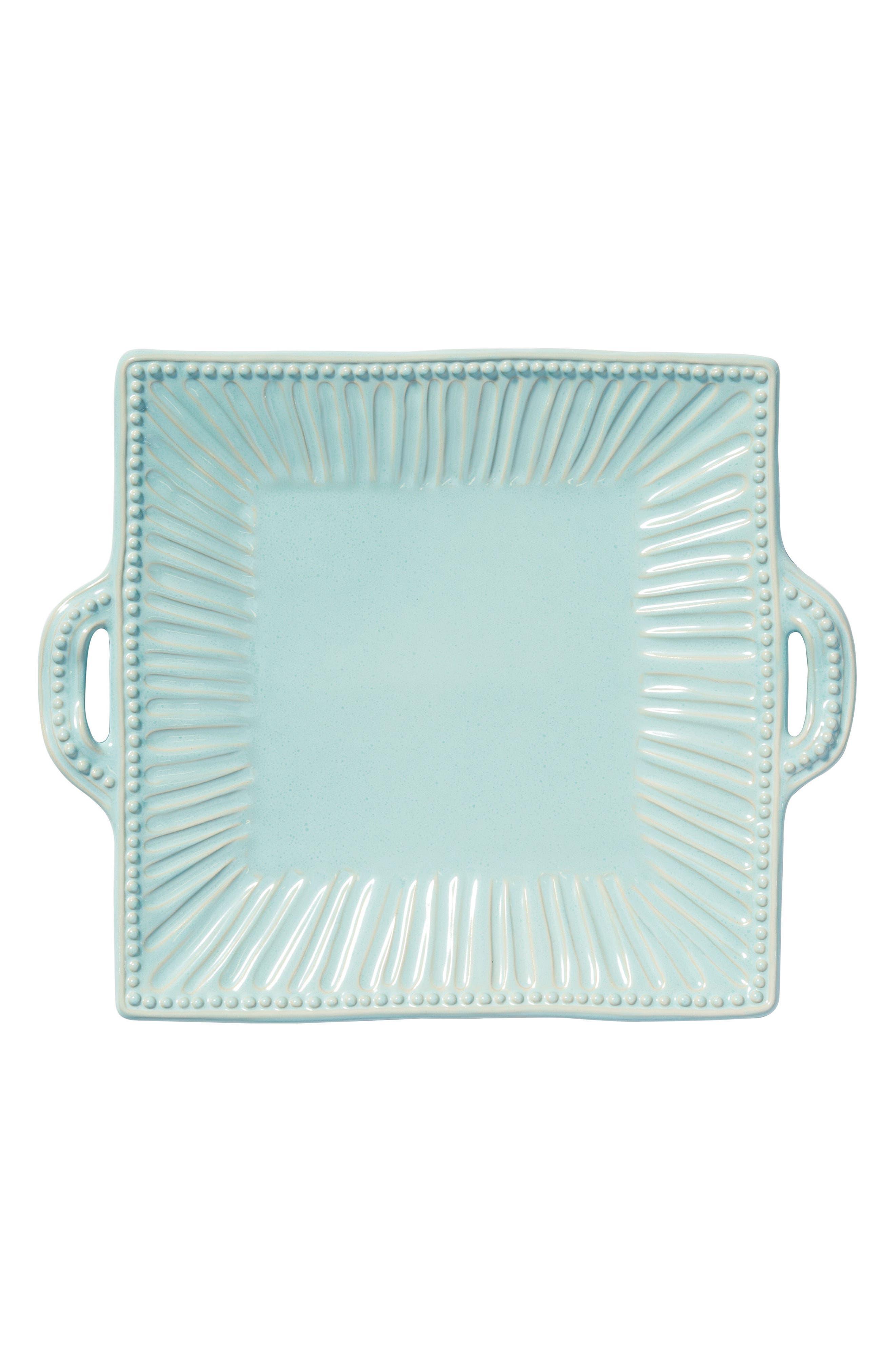 Incanto Stone Stripe Platter,                         Main,                         color, Aqua