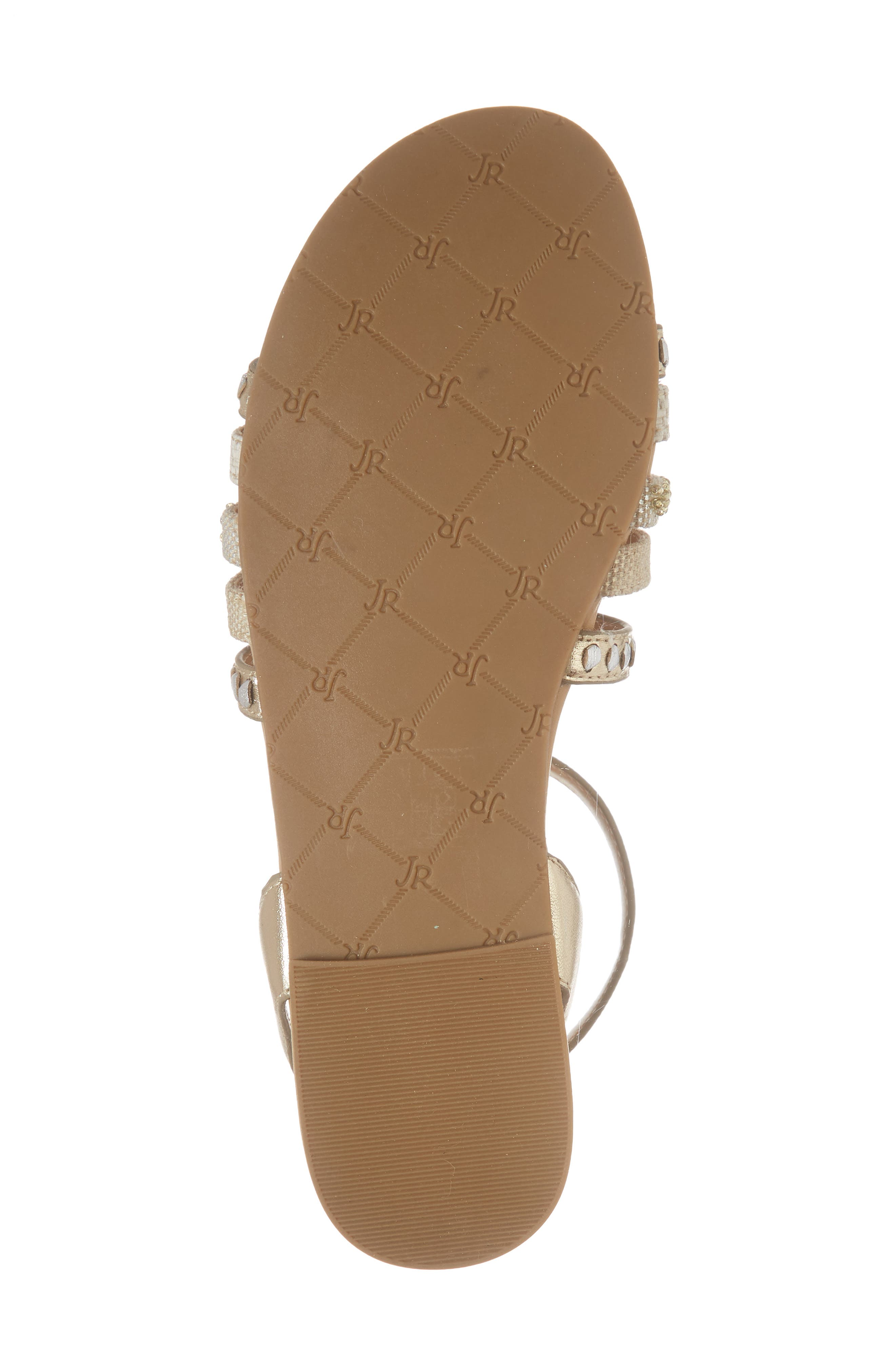 Hannah Braided Embellished Sandal,                             Alternate thumbnail 6, color,                             Platinum/ Silver Leather