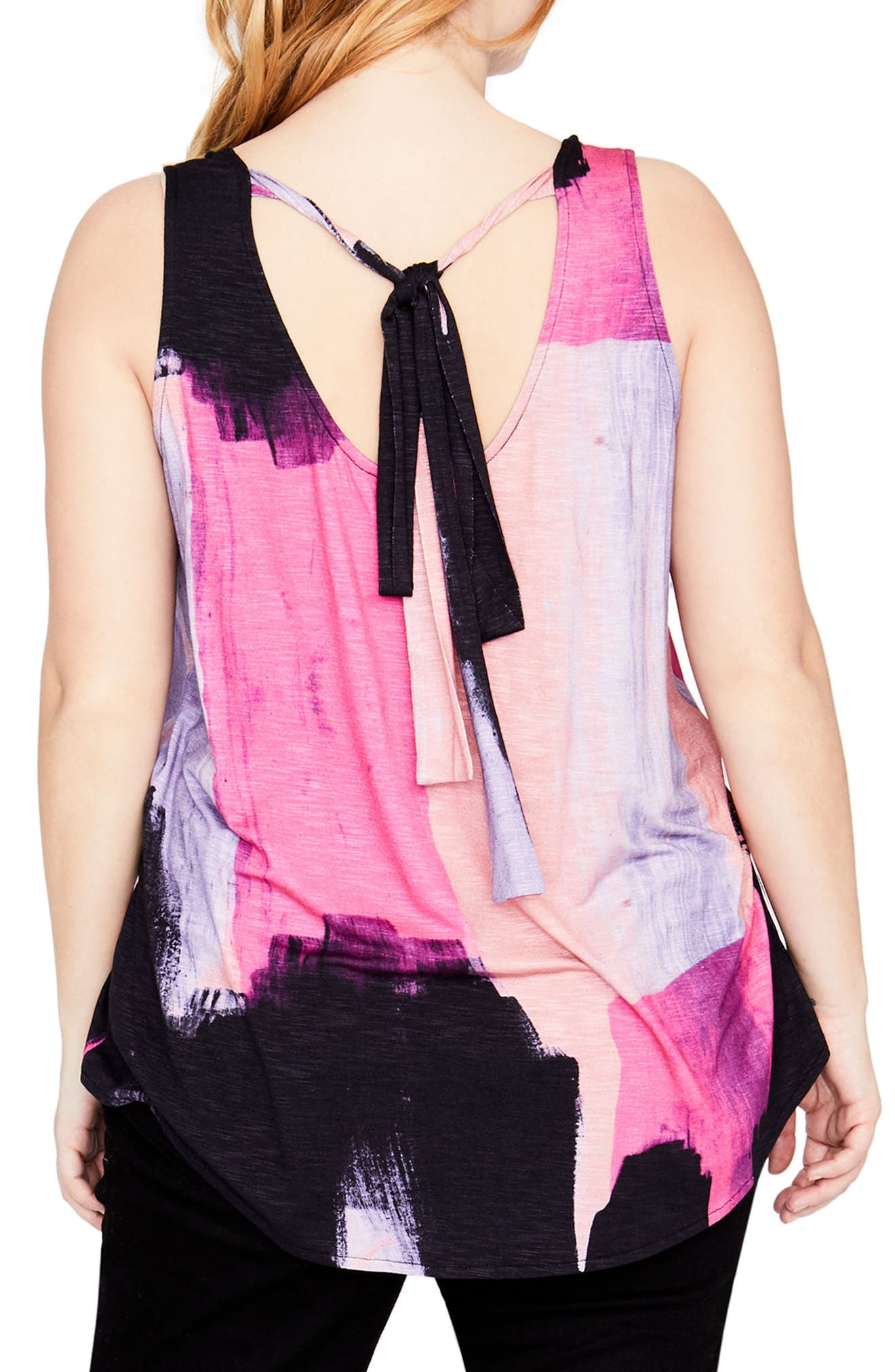 Tie Back Tank,                             Alternate thumbnail 2, color,                             Cosmic Pink