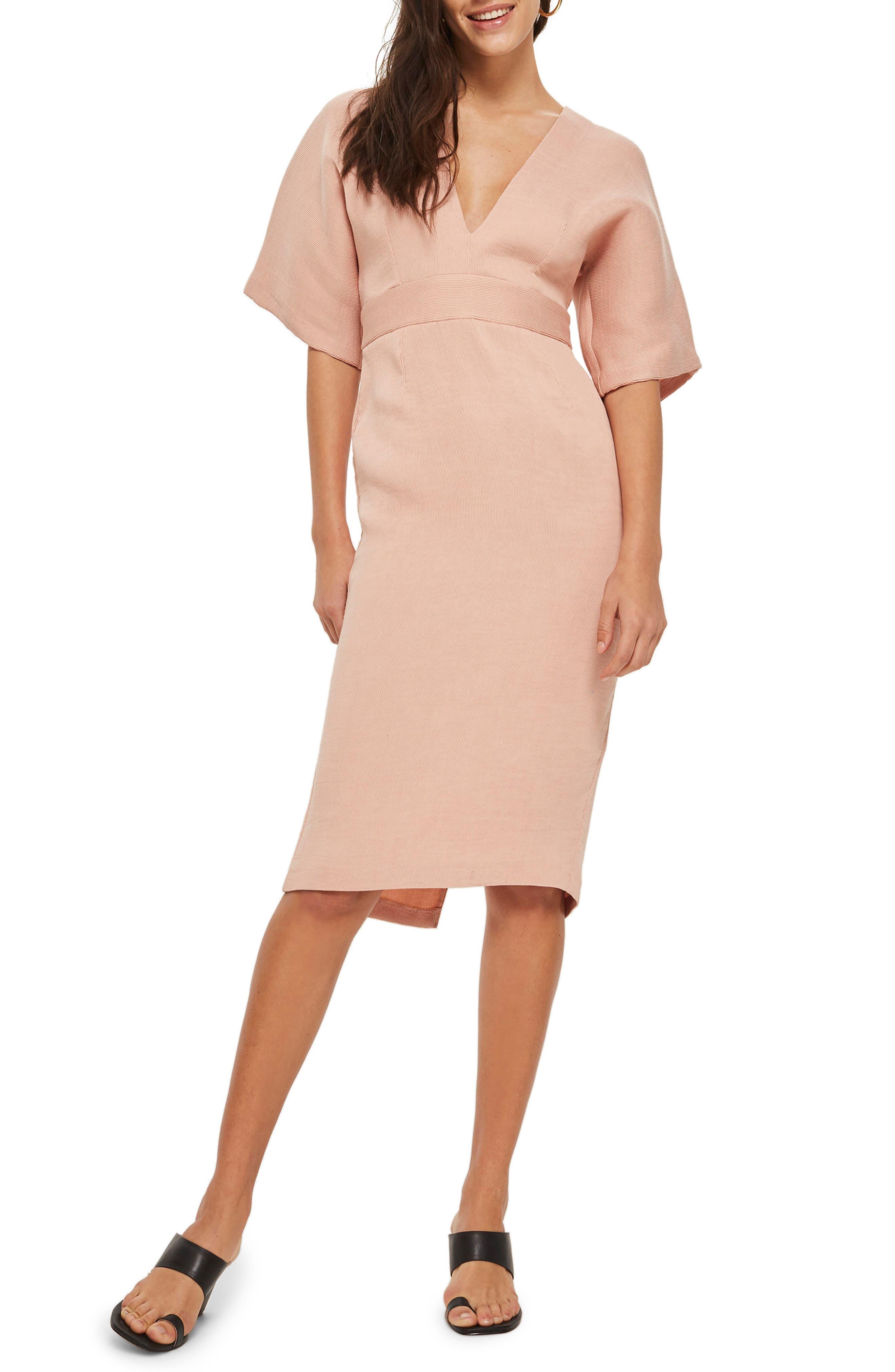 Topshop Text V-Plunge Midi Dress