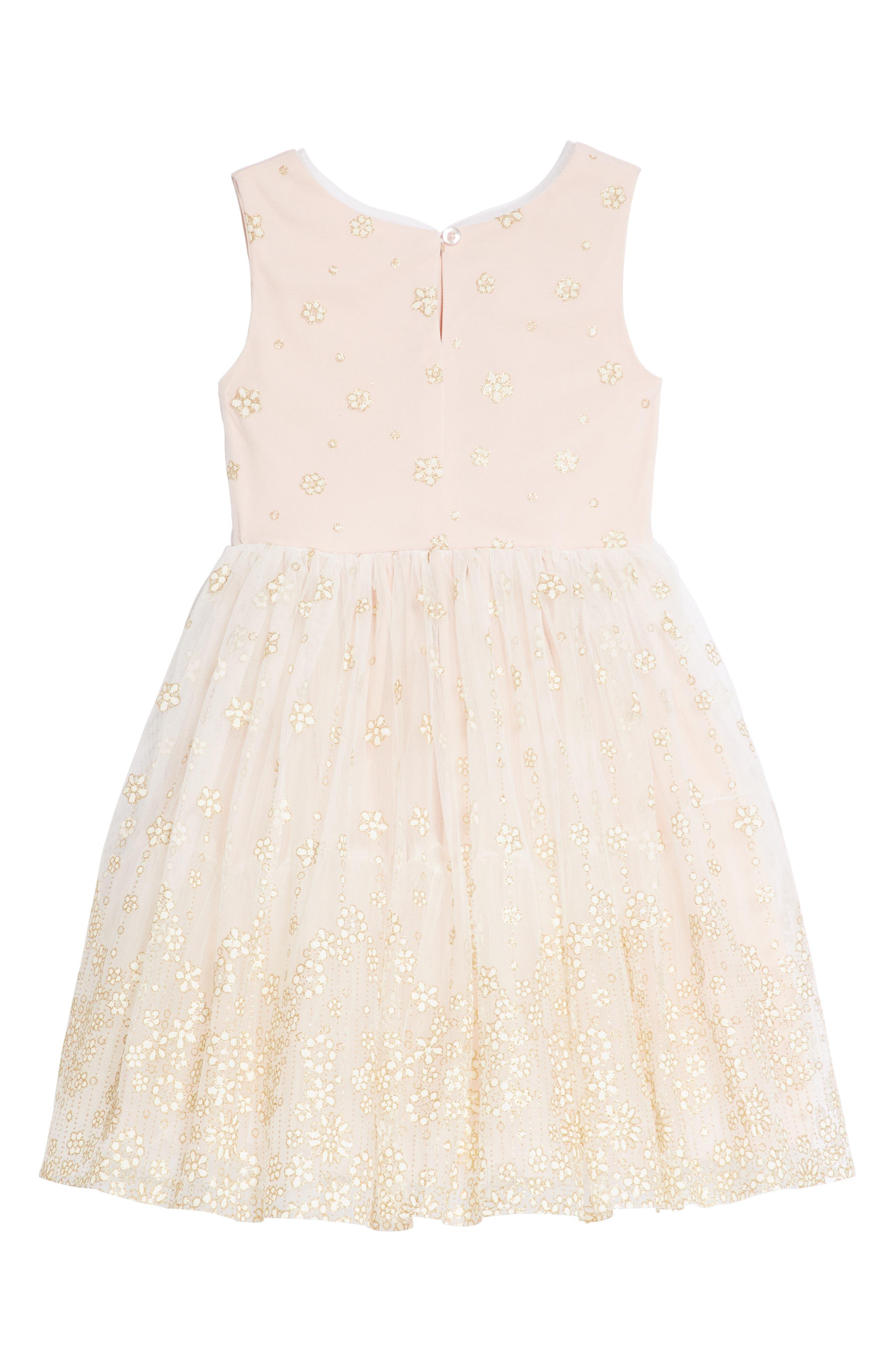 Alternate Image 2  - Frais Glitter Mesh Tulle Dress (Toddler Girls, Little Girls & Big Girls)