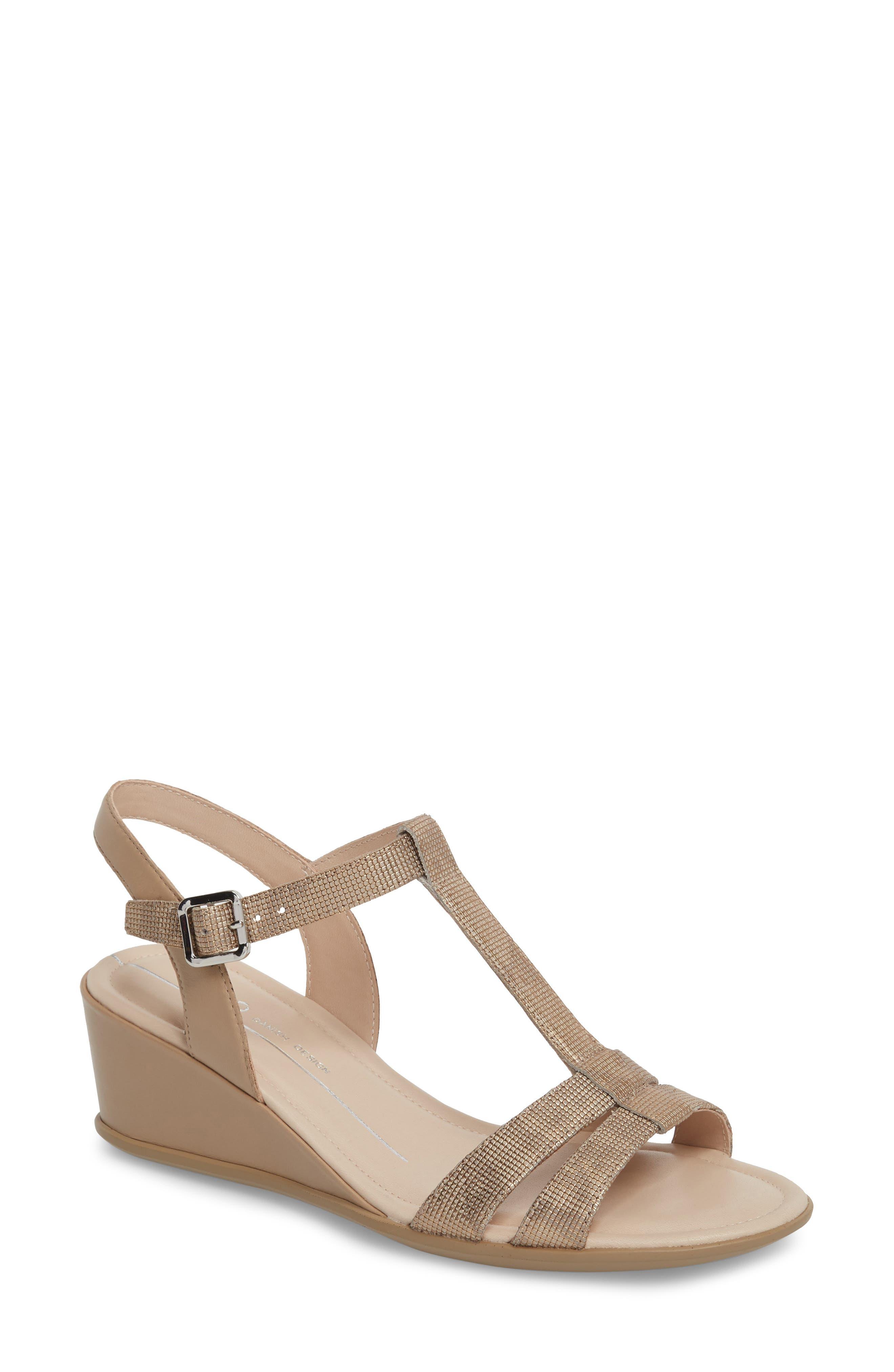 ECCO Shape 35 T-Strap Wedge Sandal (Women)