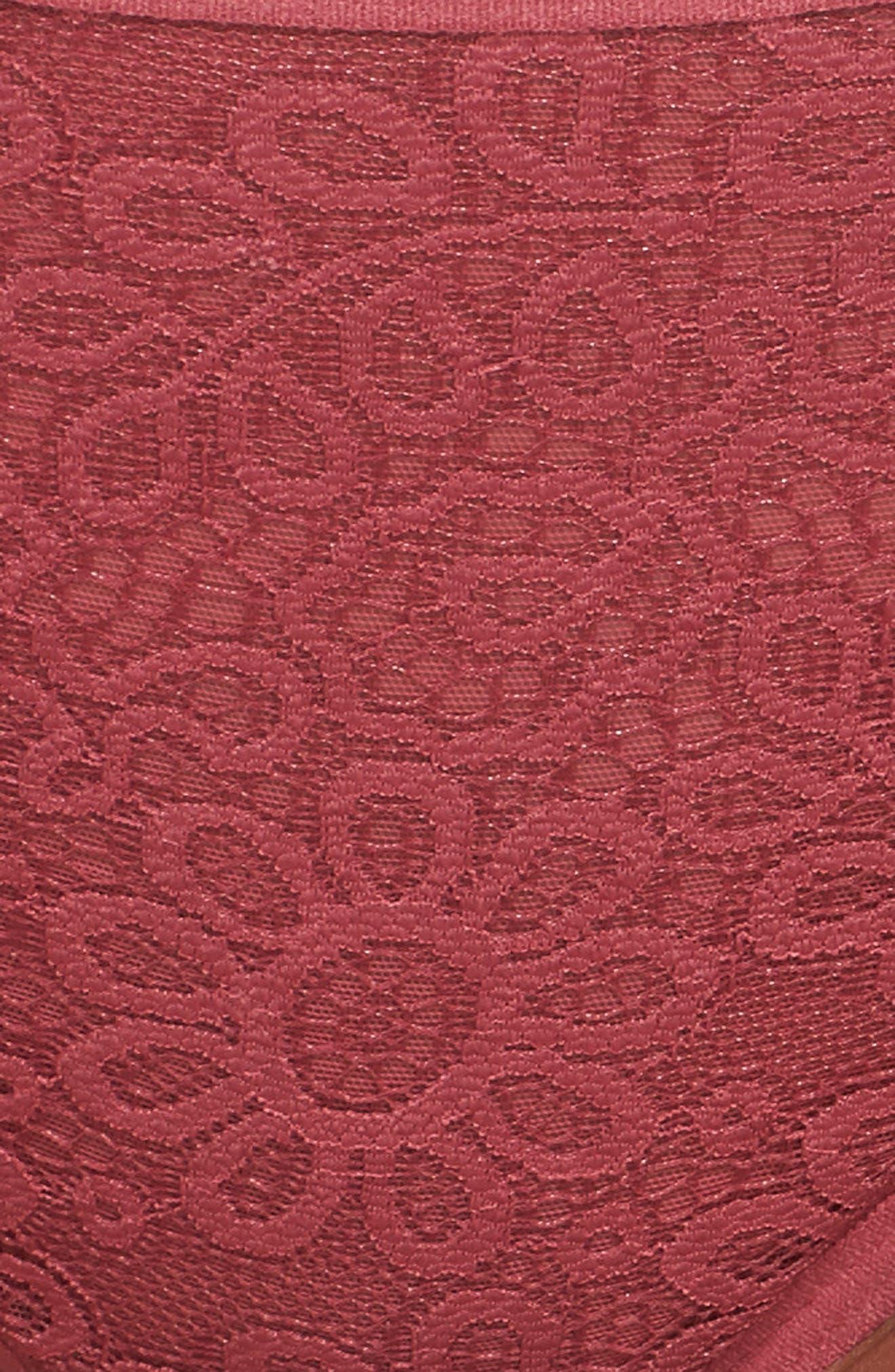 Lace Bikini,                             Alternate thumbnail 9, color,                             Rose Wine