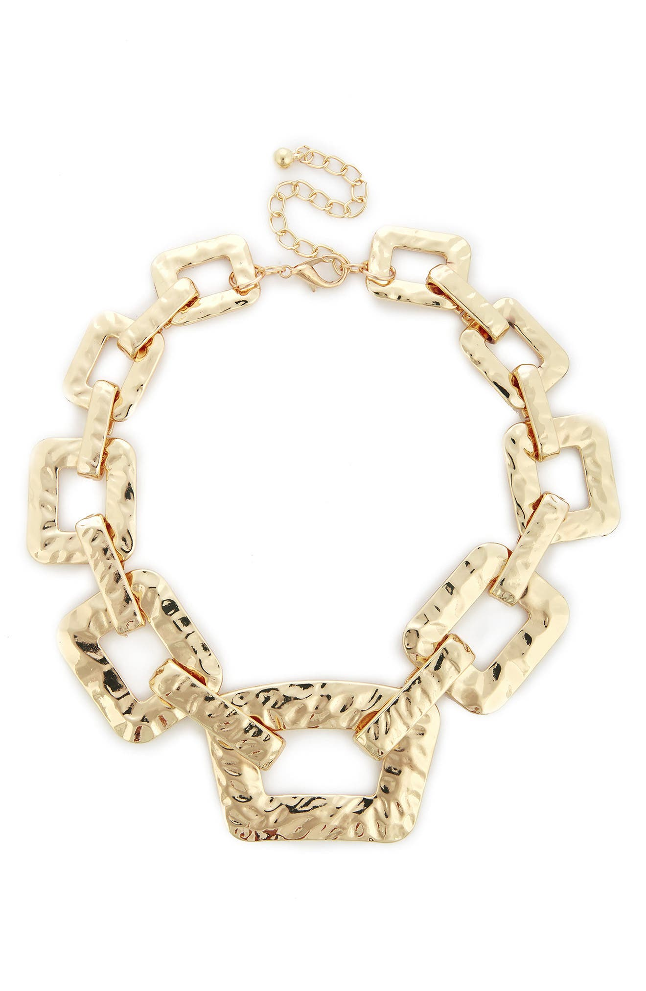 Sole Society Textured Oversize Chain Necklace