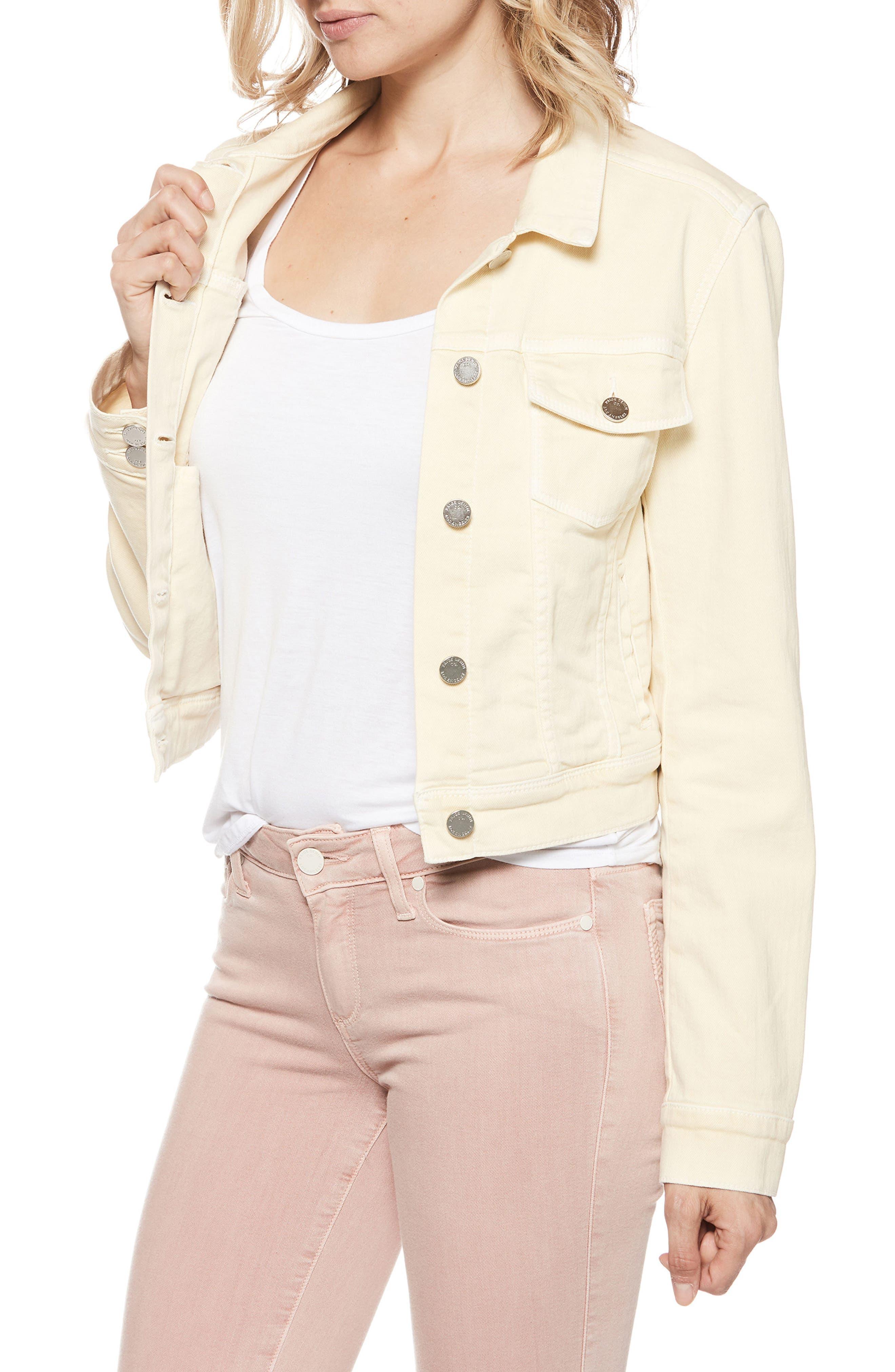 Vivienne Denim Jacket,                         Main,                         color, Vintage Pale Daffodil