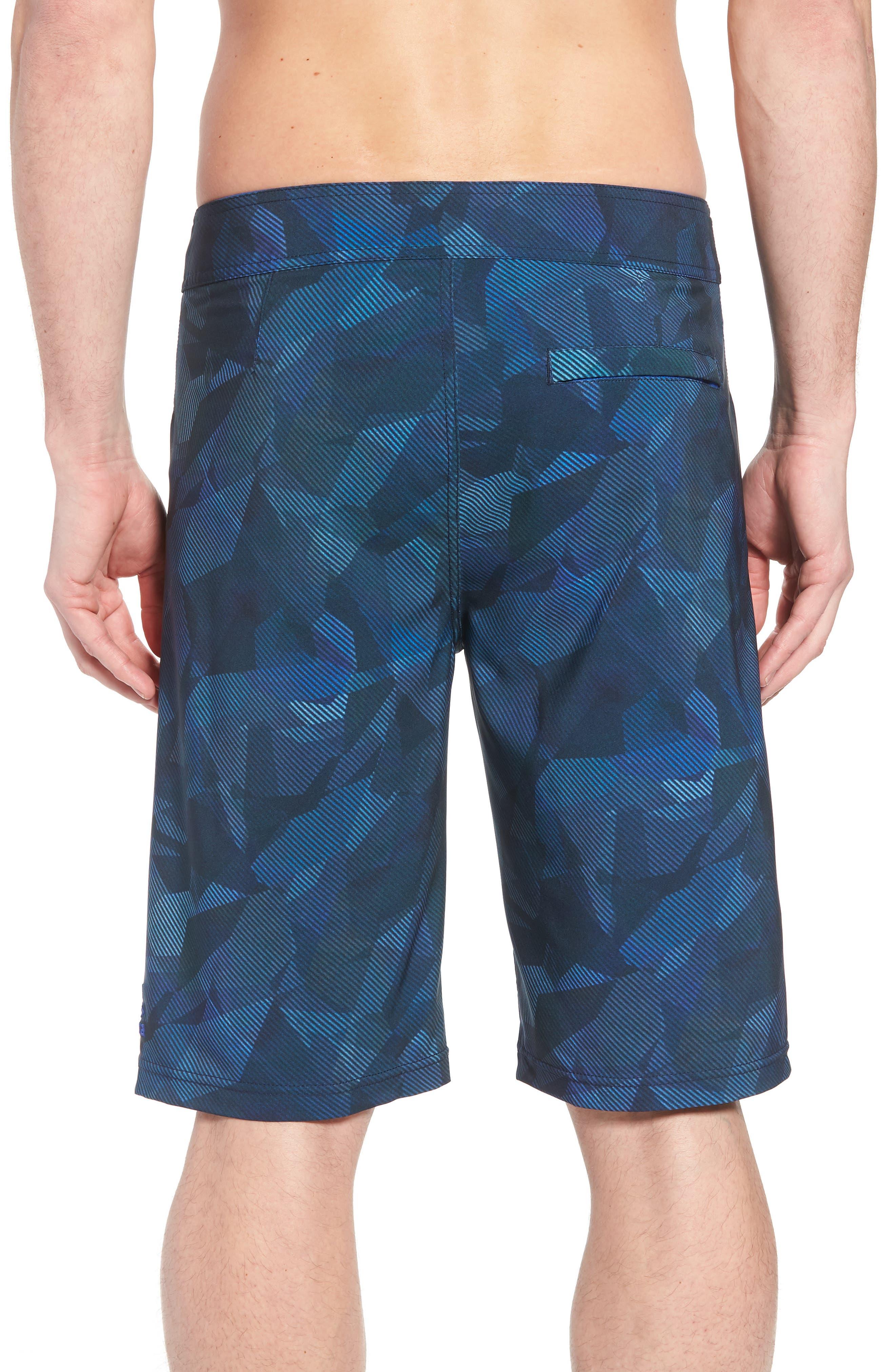 'Sediment' Stretch Board Shorts,                             Alternate thumbnail 2, color,                             Island Blue Hex