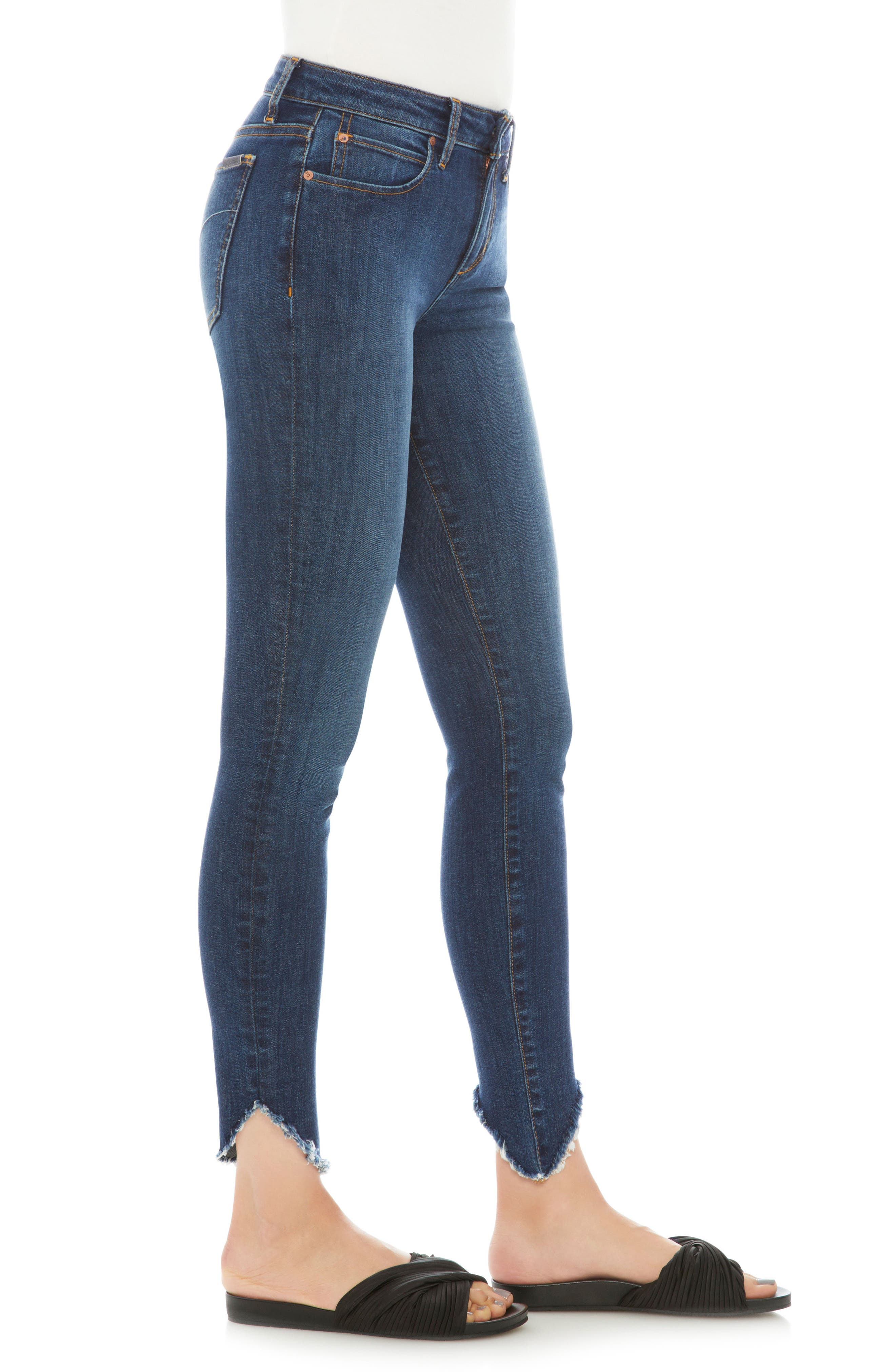 Flawless - Icon Ankle Skinny Jeans,                             Alternate thumbnail 3, color,                             Lorna