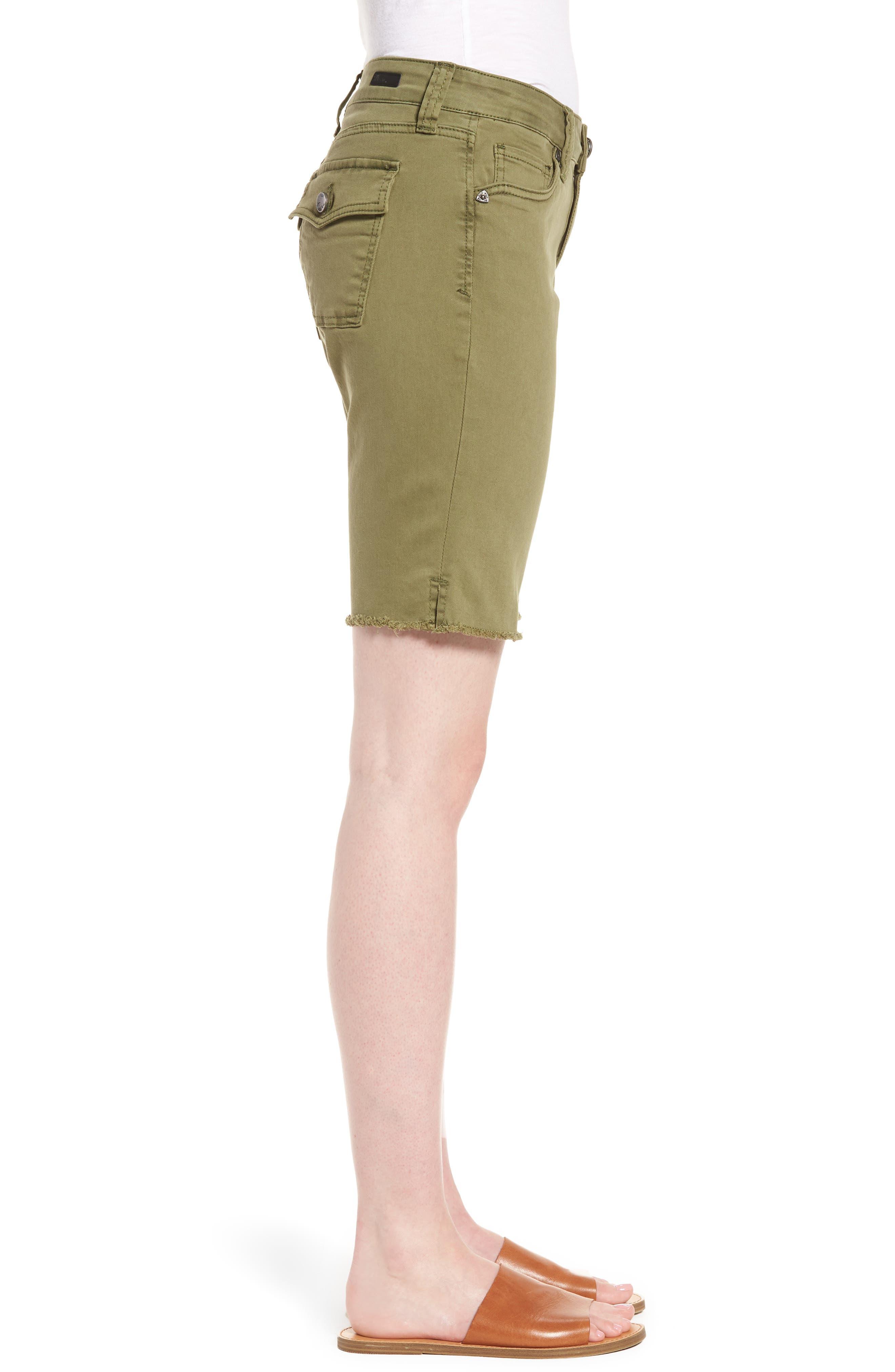 Natalie Bermuda Shorts,                             Alternate thumbnail 3, color,                             Olive