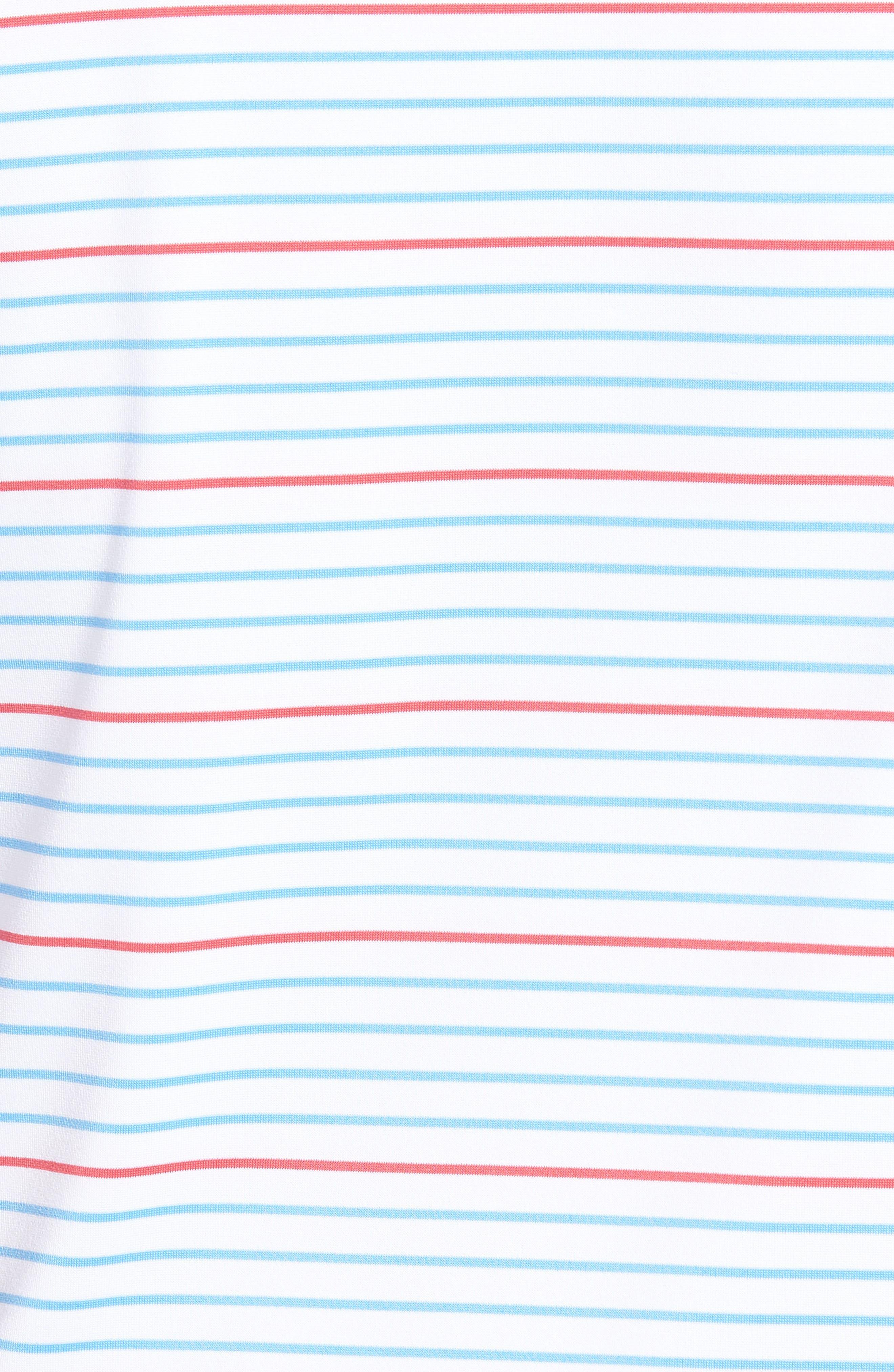 Swindell Stretch Stripe Polo,                             Alternate thumbnail 5, color,                             White Cap