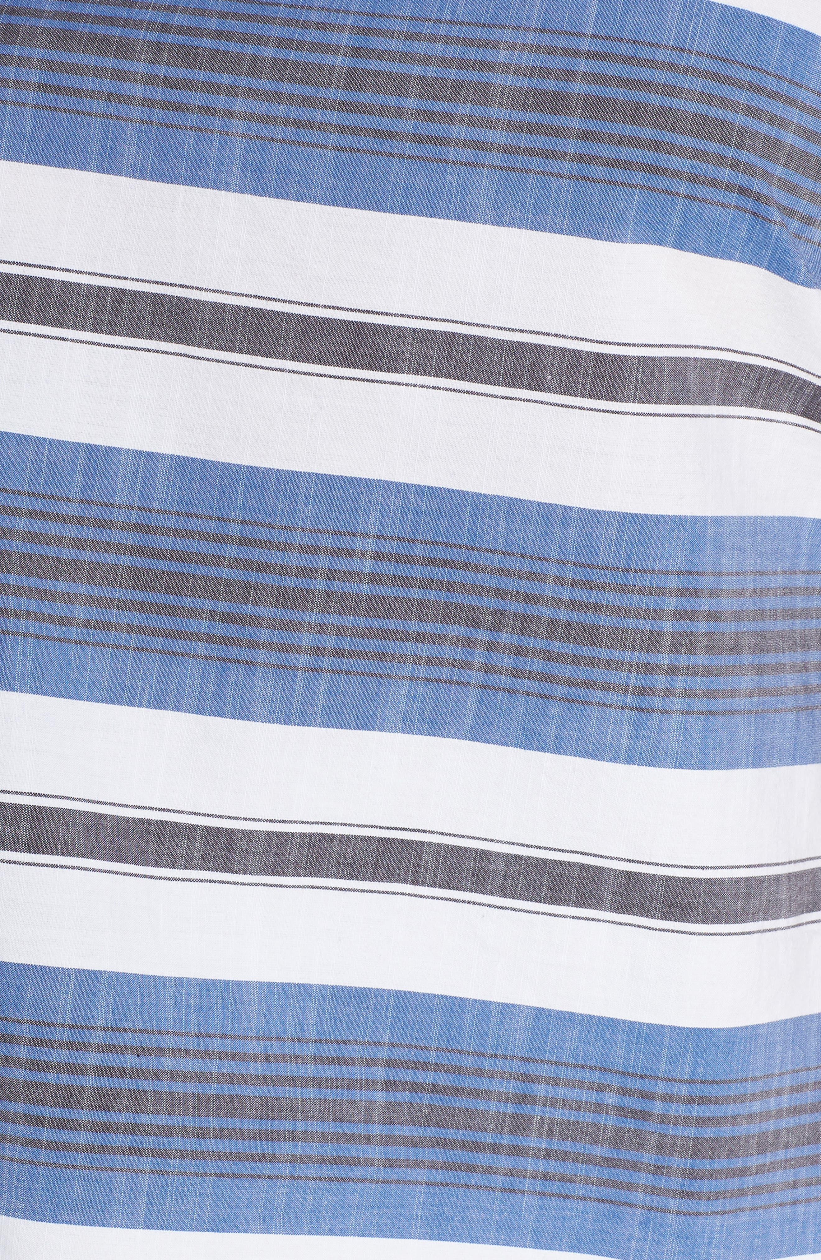 Cold Shoulder Stripe Top,                             Alternate thumbnail 6, color,                             Blue Multi