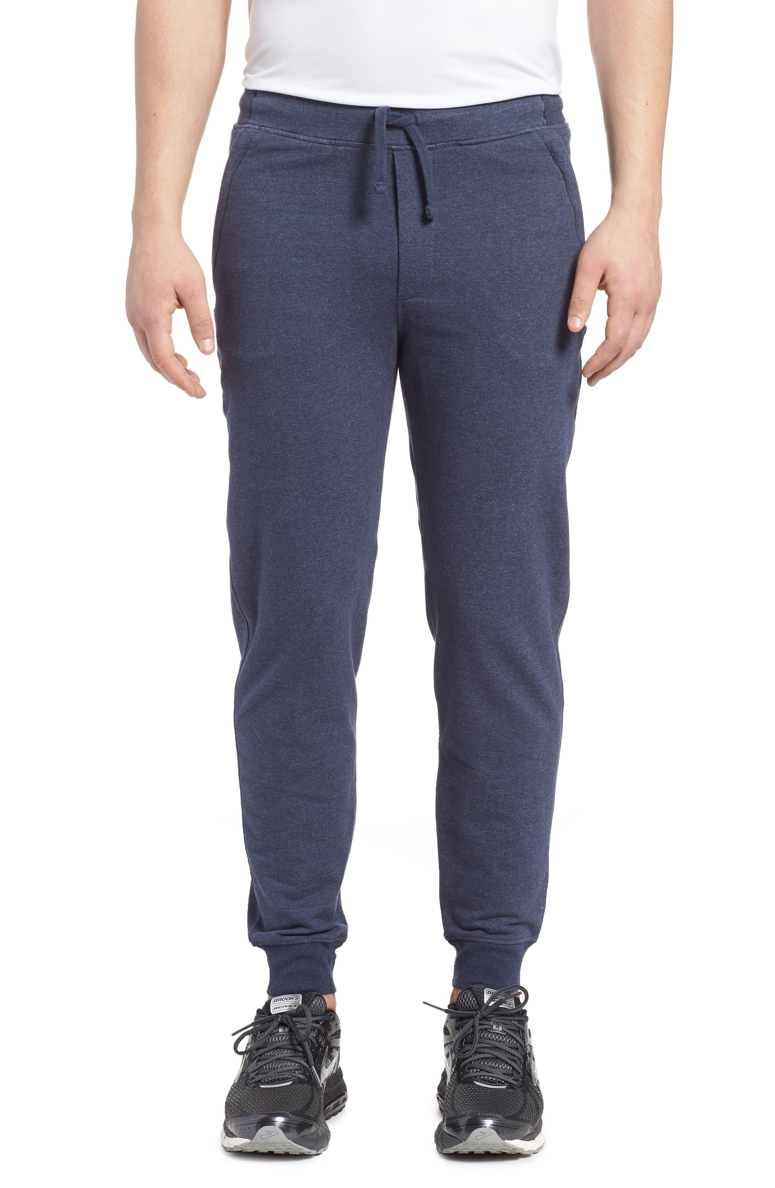 M's Mahnya Fleece Jogger Pants,                             Main thumbnail 1, color,                             Navy Blue