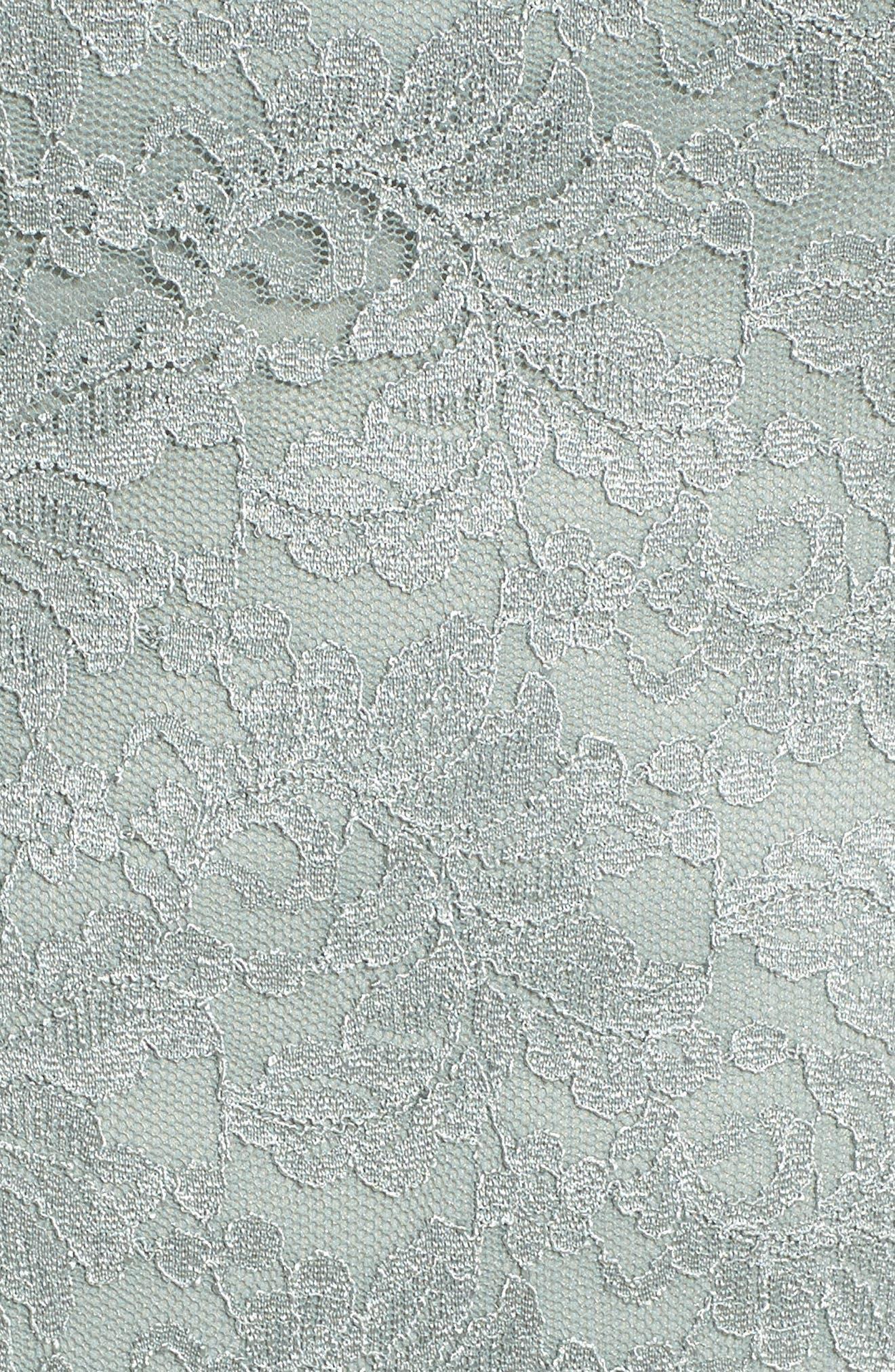 Lace Sheath Dress & Jacket,                             Alternate thumbnail 3, color,                             Ice Sage
