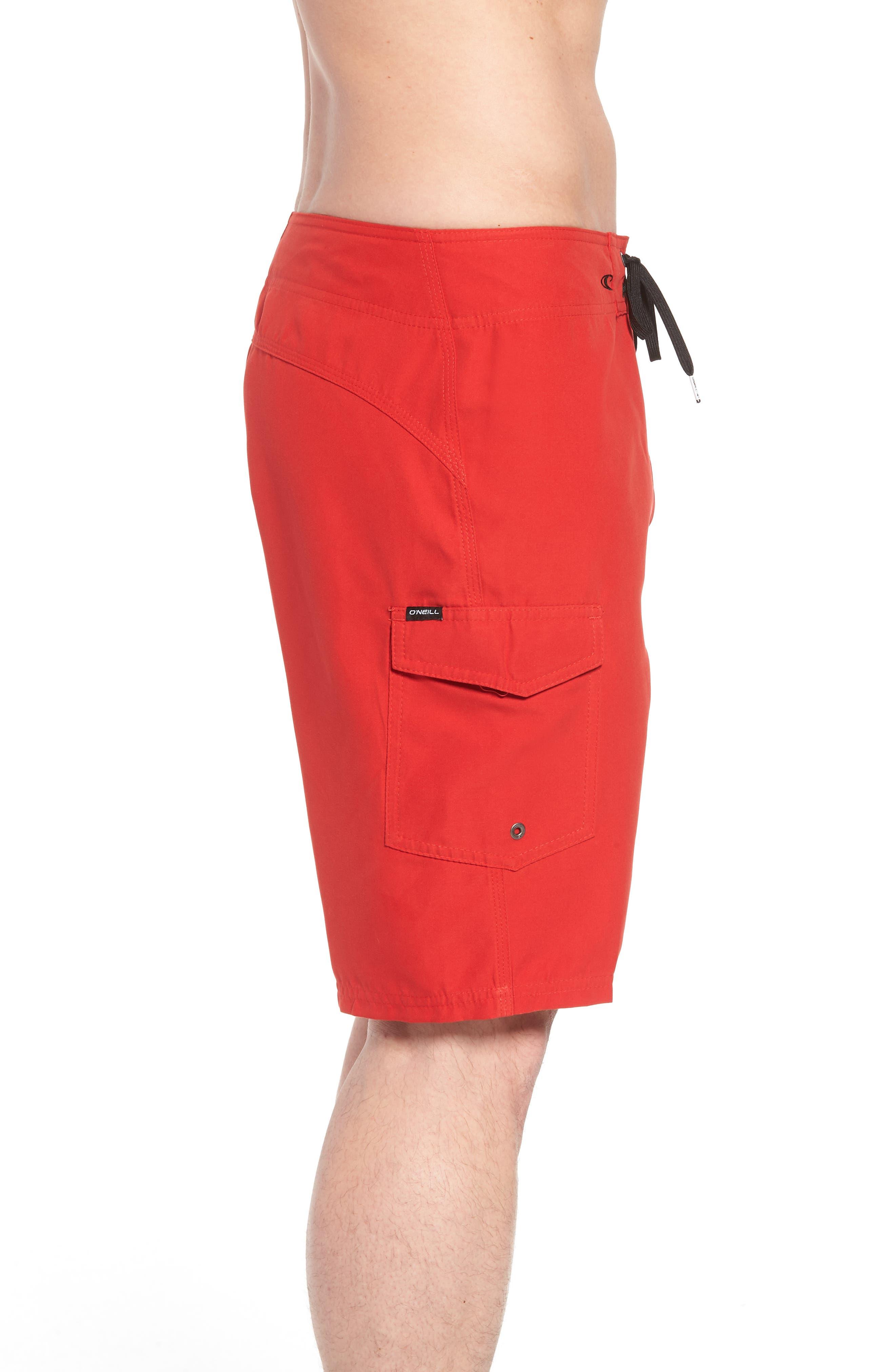 Santa Cruz Board Shorts,                             Alternate thumbnail 4, color,                             Red