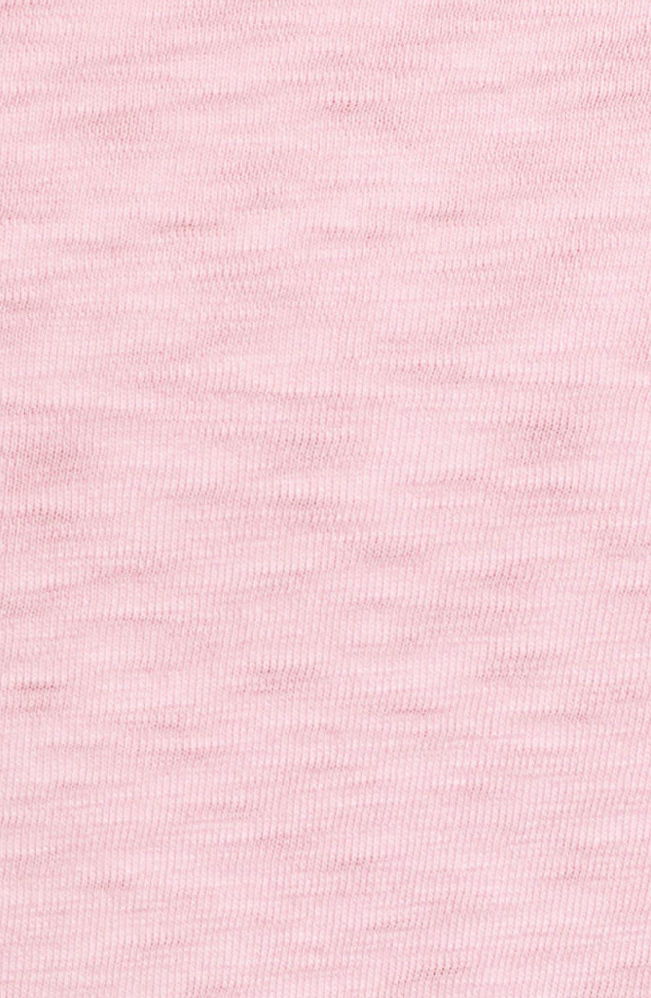 Slub Knit T-Shirt,                             Alternate thumbnail 9, color,                             Pink