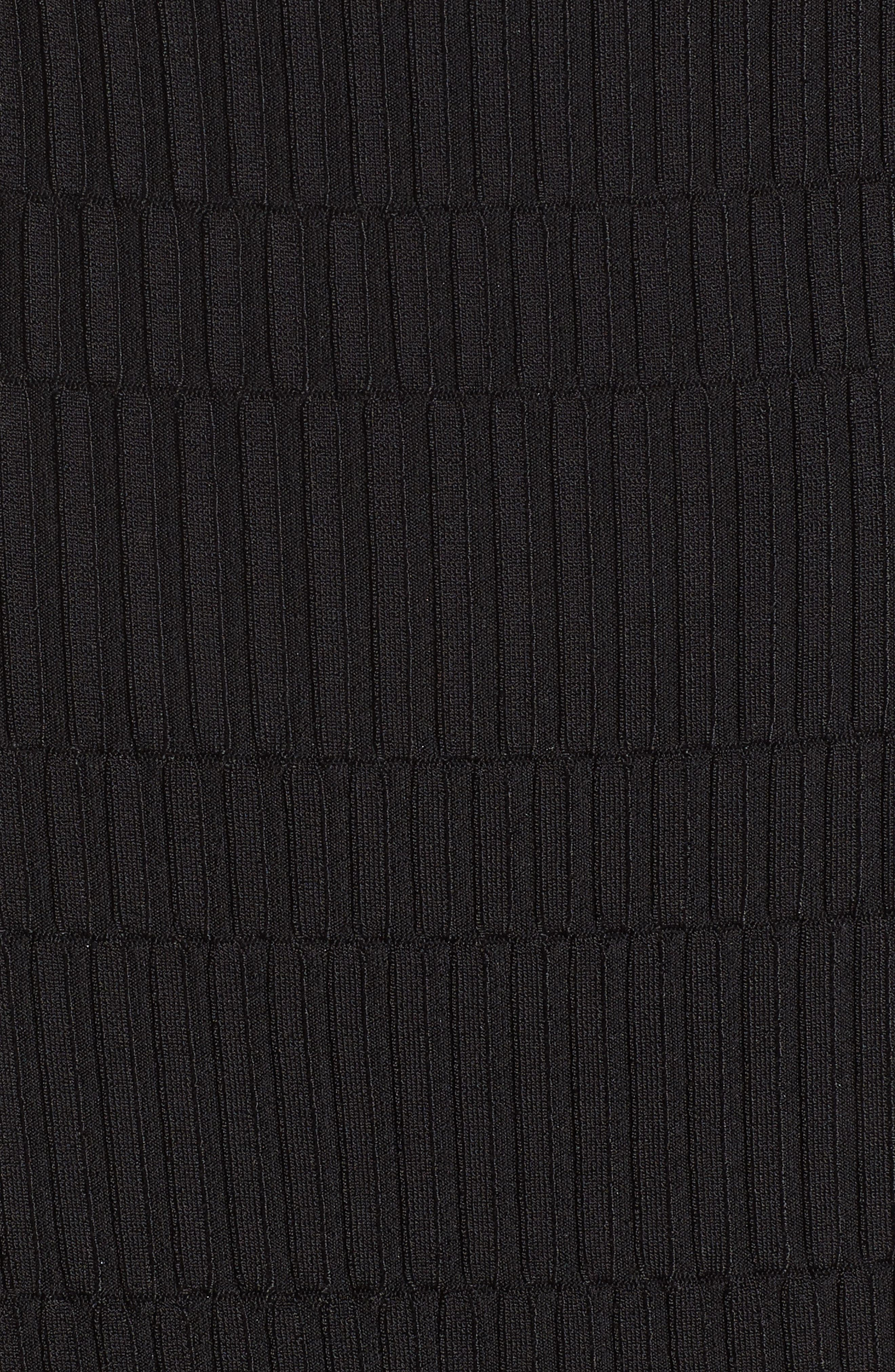Tube Sweater Dress,                             Alternate thumbnail 5, color,                             Black