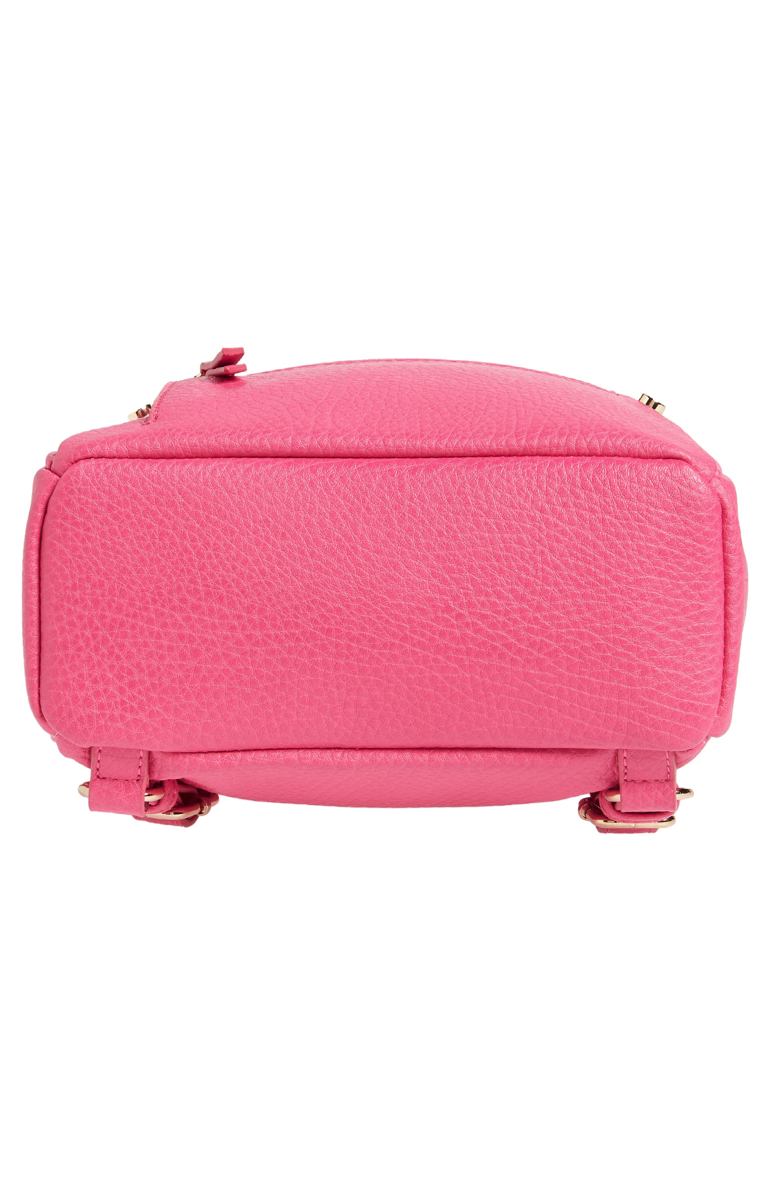 Mali + Lili Hannah Vegan Leather Backpack,                             Alternate thumbnail 6, color,                             Hot Pink