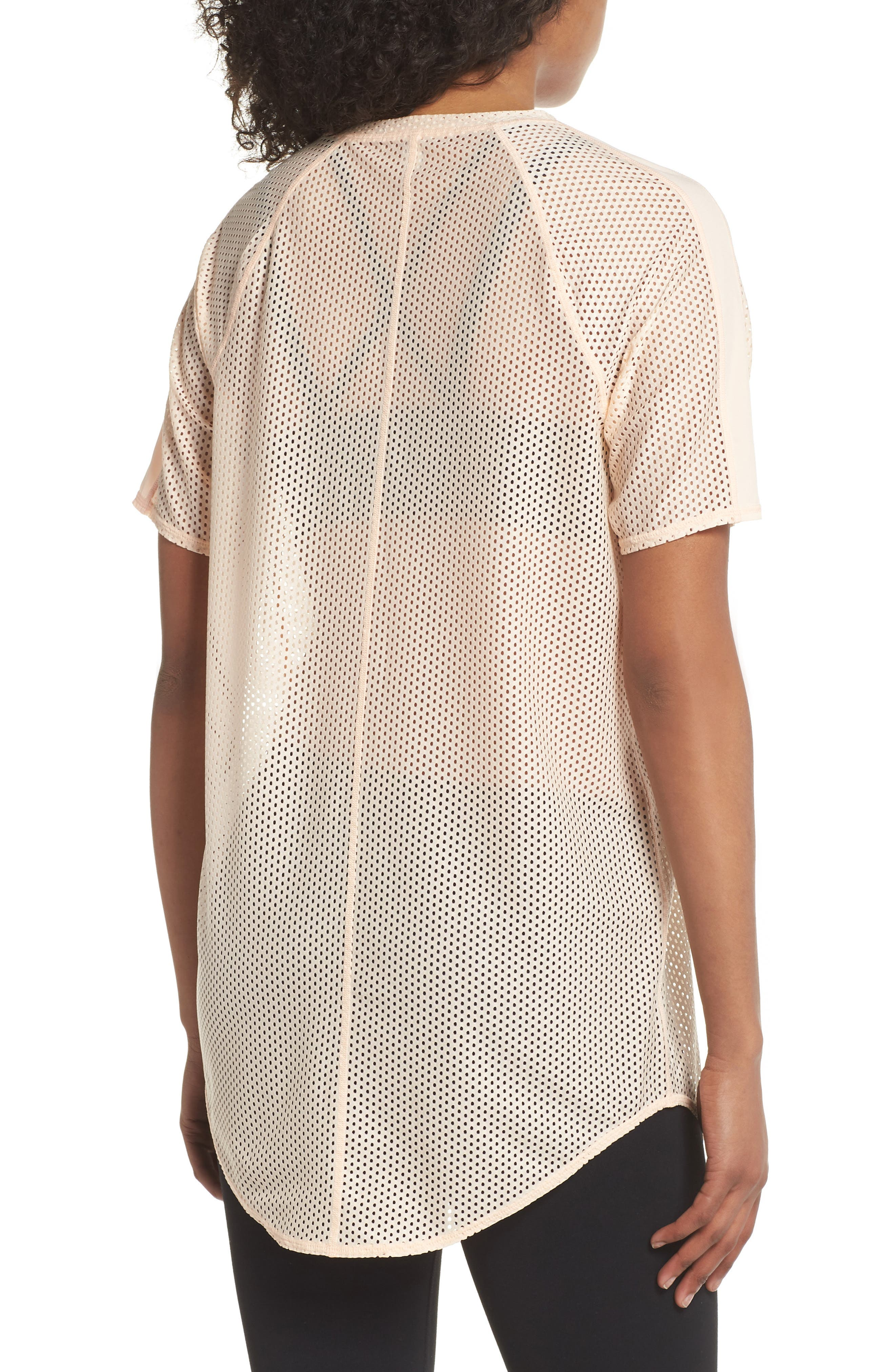 Throwback Mesh Tunic,                             Alternate thumbnail 2, color,                             Coral Pale