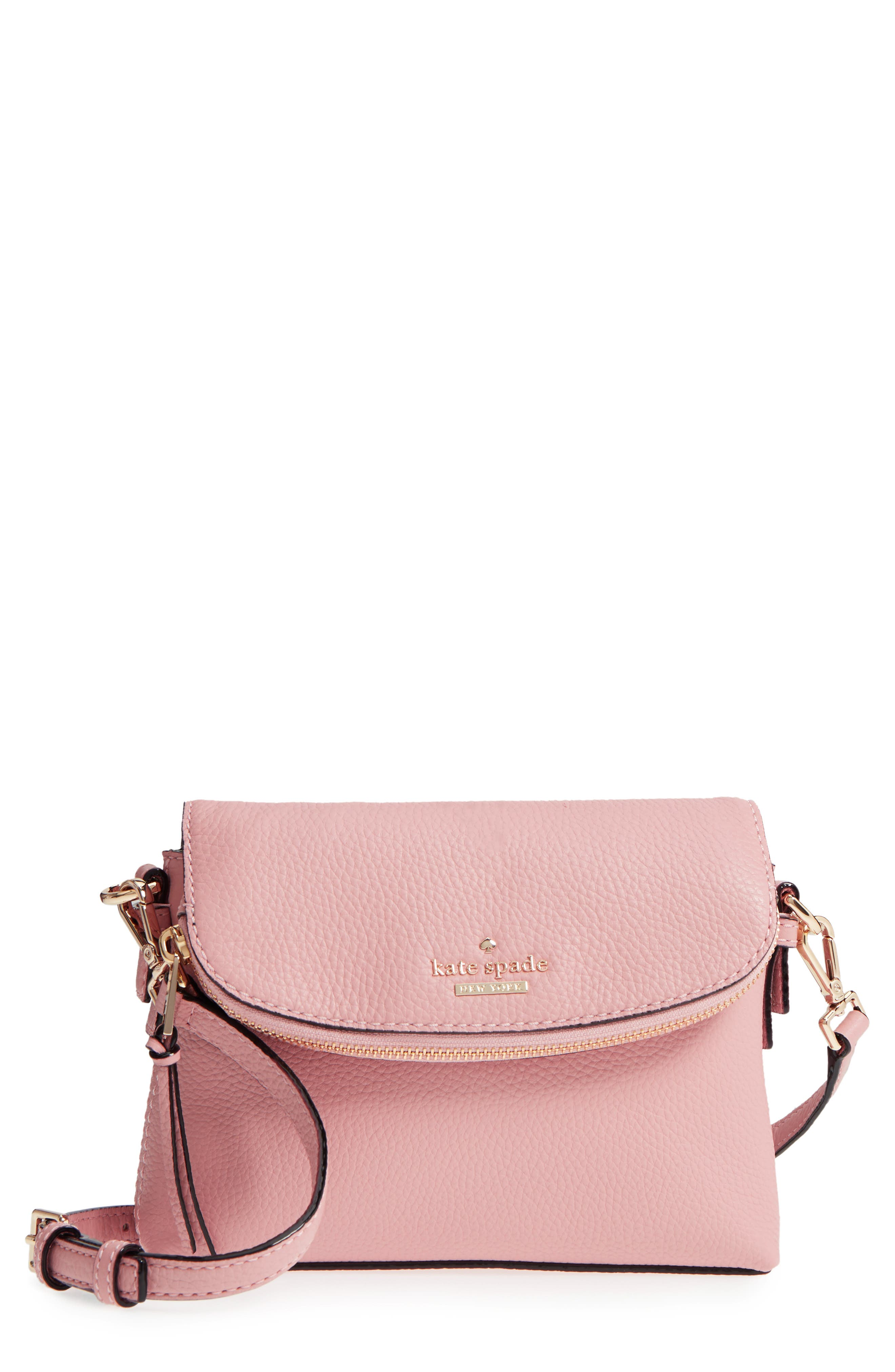 Kate Spade Jackson Street Small Harlyn Leather Crossbody Bag Pink In Rosy Cheeks