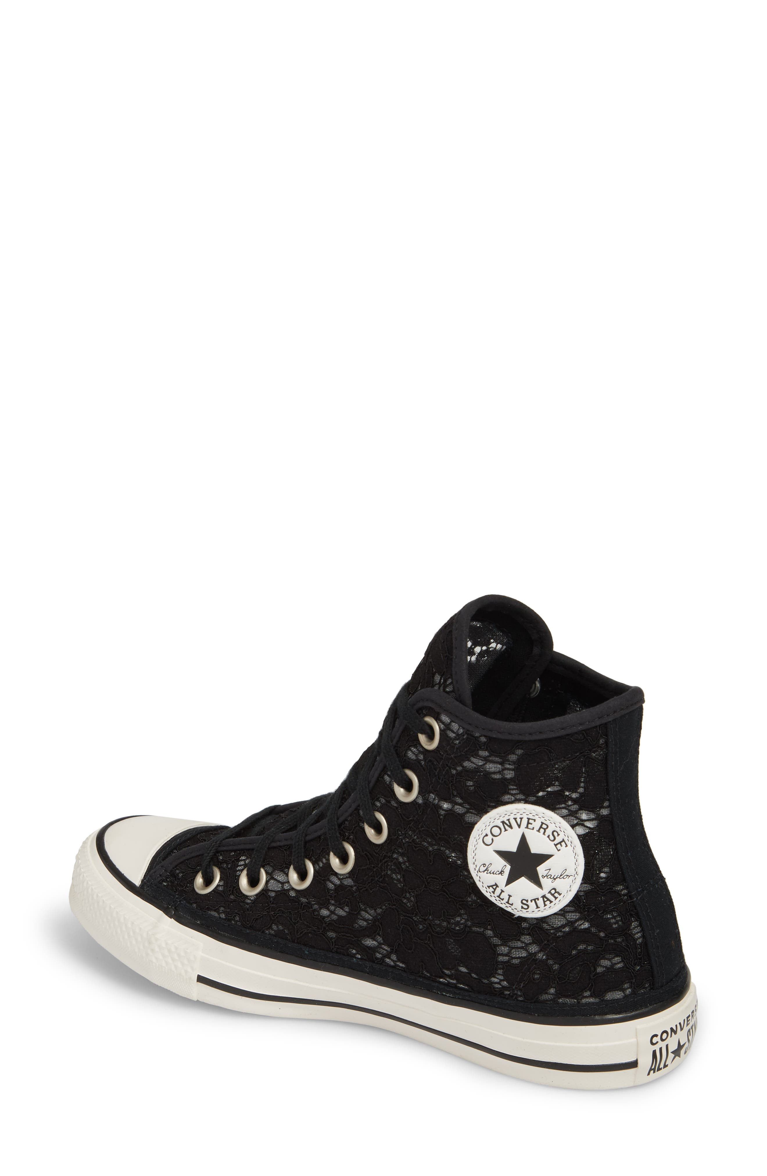 Chuck Taylor<sup>®</sup> All Star Lace High-Top Sneaker,                             Alternate thumbnail 2, color,                             Black/ White