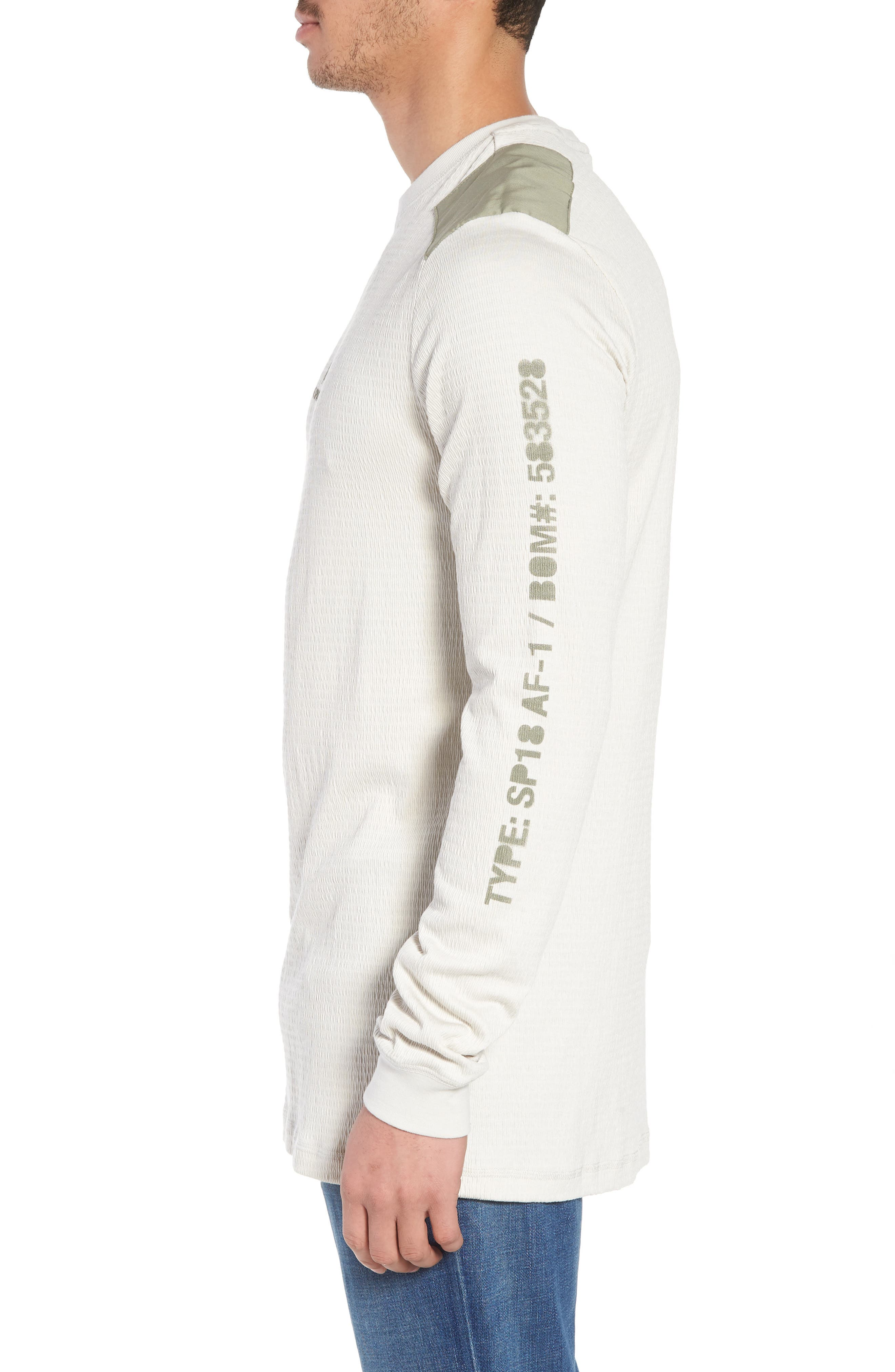 Sportswear AF-1 Long Sleeve Shirt,                             Alternate thumbnail 3, color,                             Light Bone/ Stucco/ Stucco