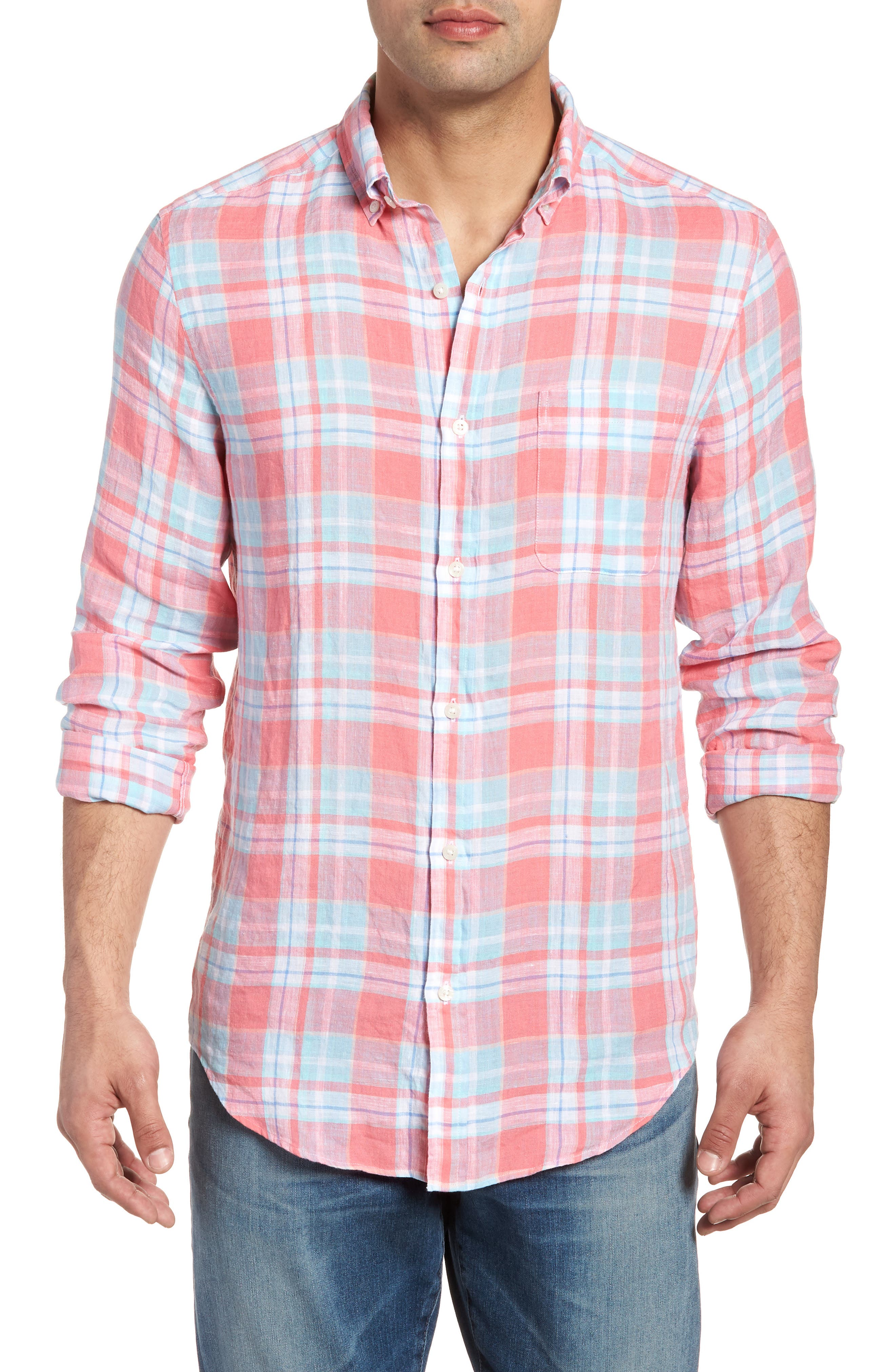 vineyard vines Atlantis Club Classic Fit Plaid Sport Shirt