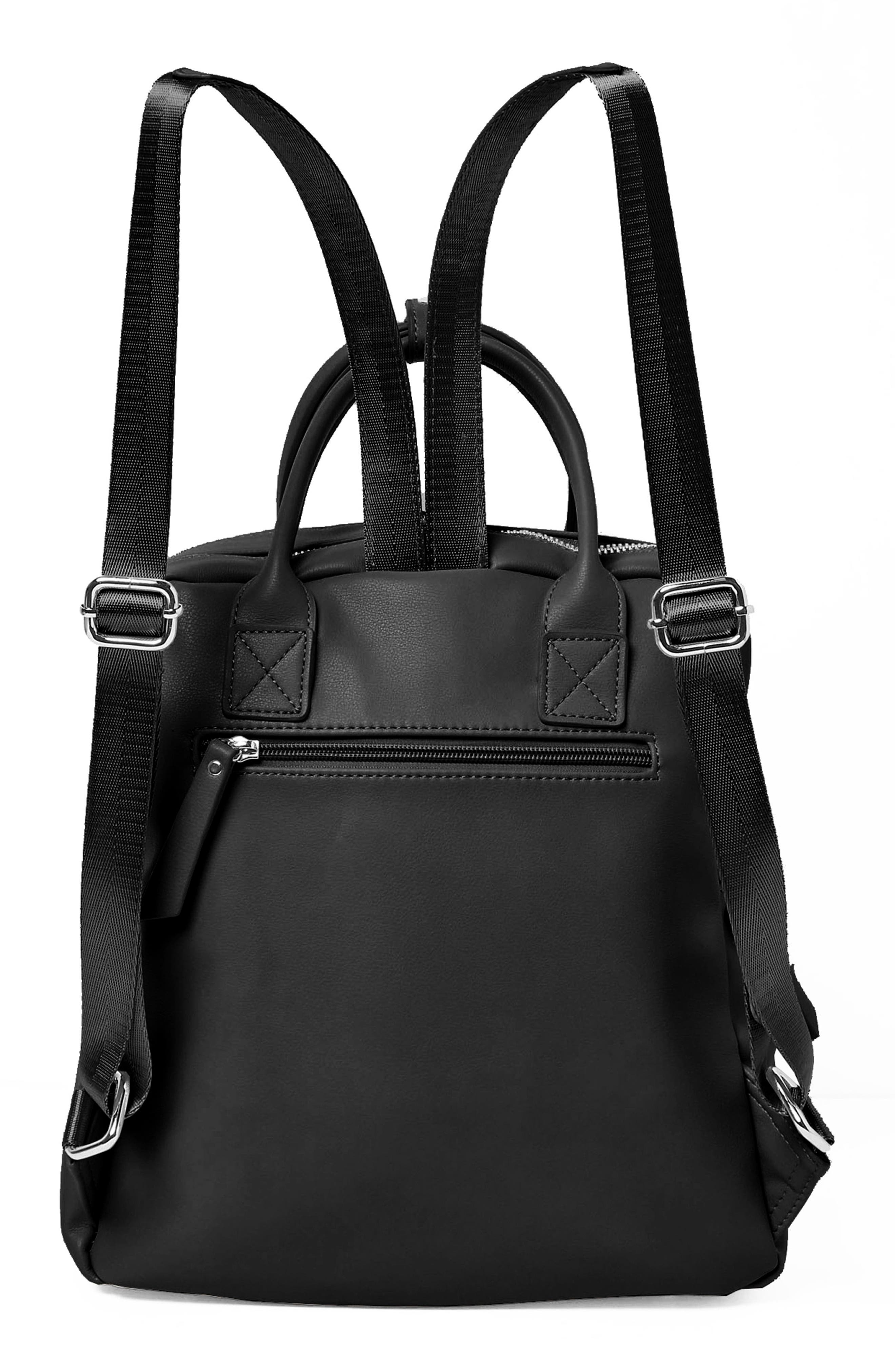 Over Exposure Vegan Leather Backpack,                             Alternate thumbnail 2, color,                             Black