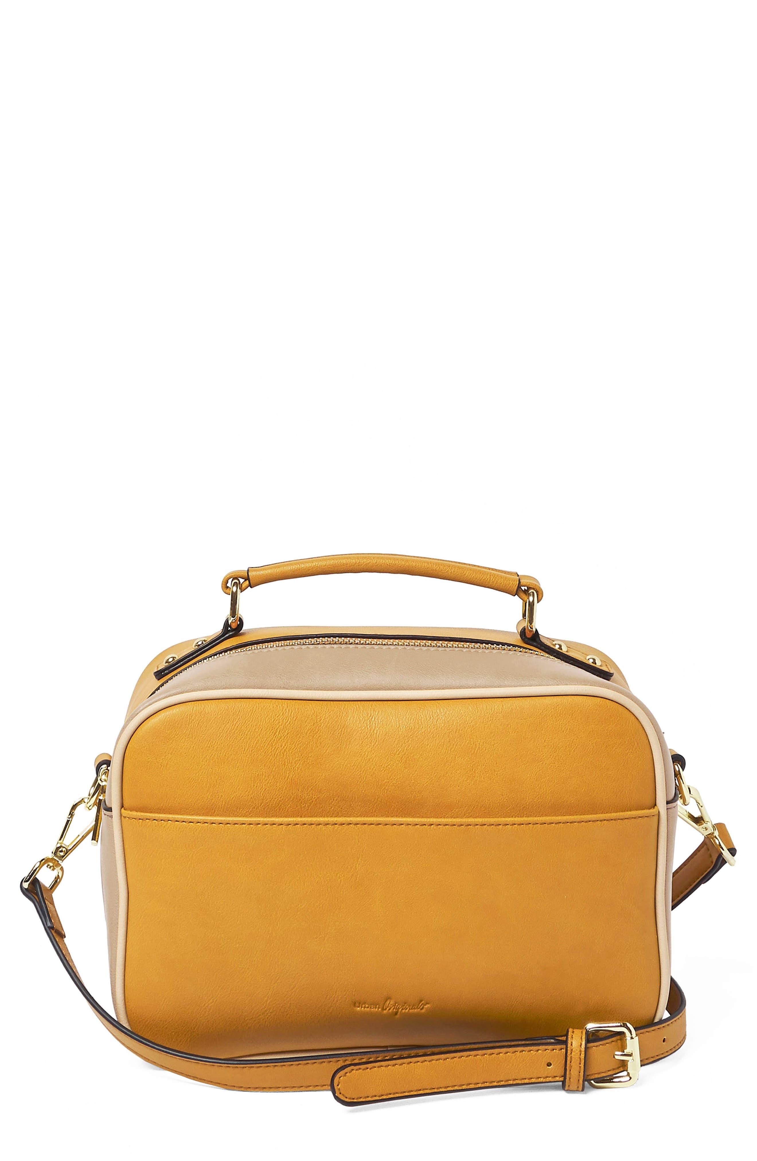 Love Bird Faux Leather Satchel,                             Main thumbnail 1, color,                             Yellow