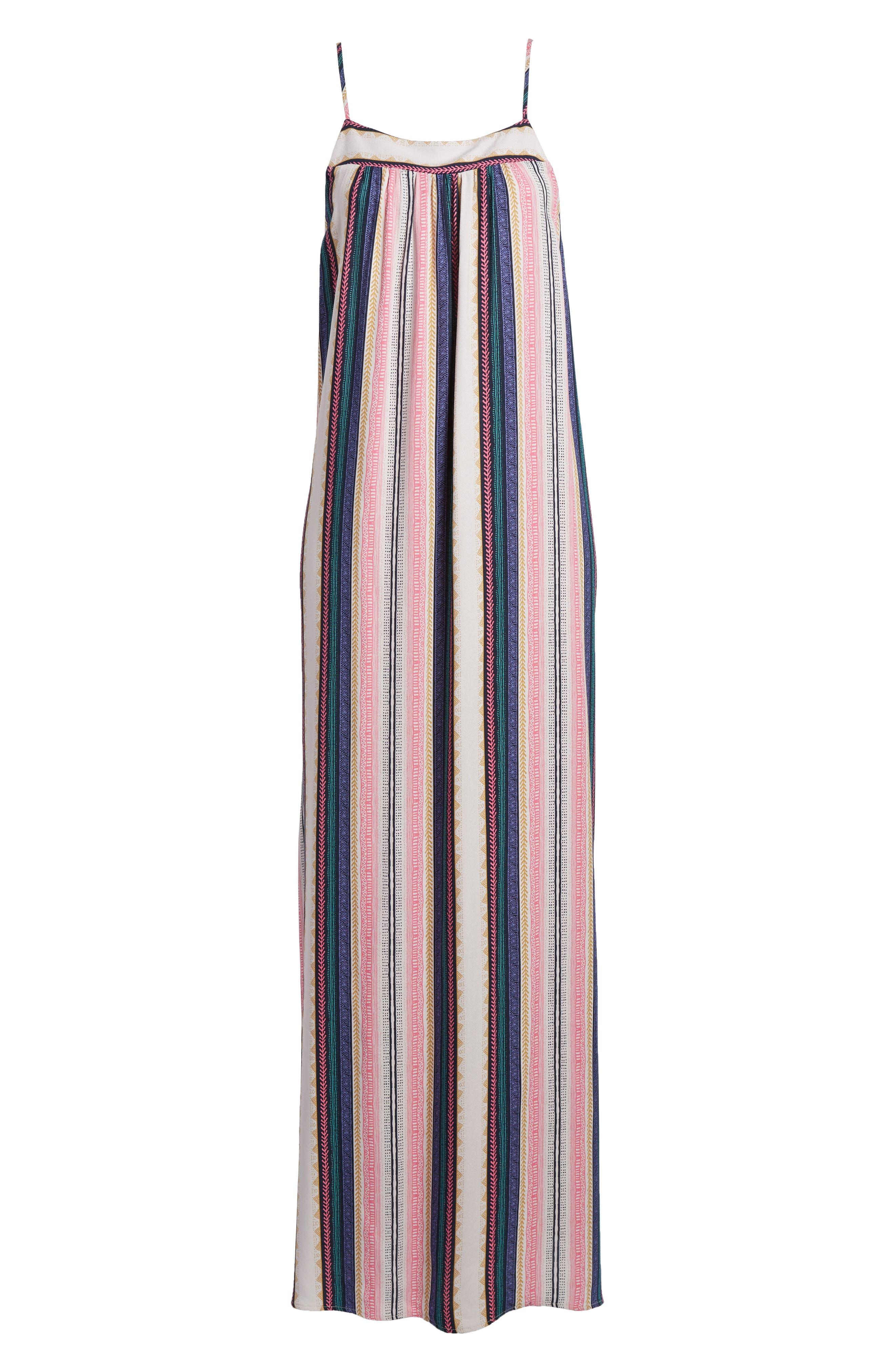 Stripe Maxi Dress,                             Alternate thumbnail 6, color,                             Multi Stripe