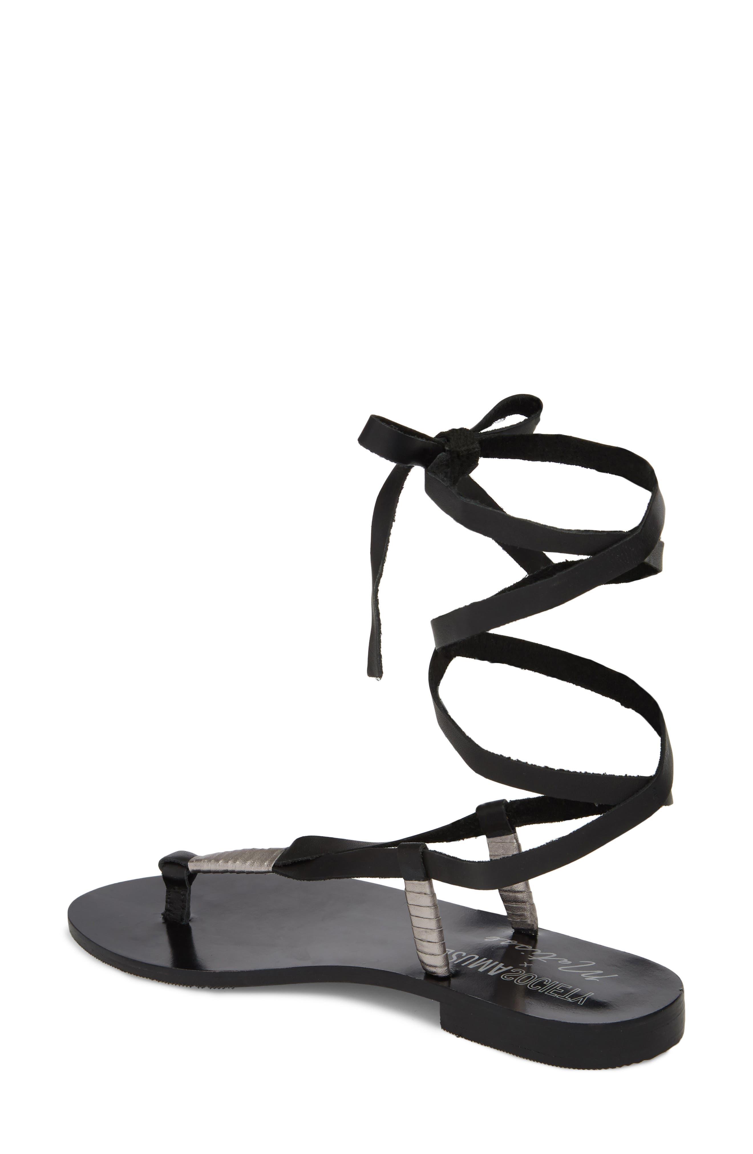 Amuse Society x Matisse Positano Sandal,                             Alternate thumbnail 2, color,                             Black Leather