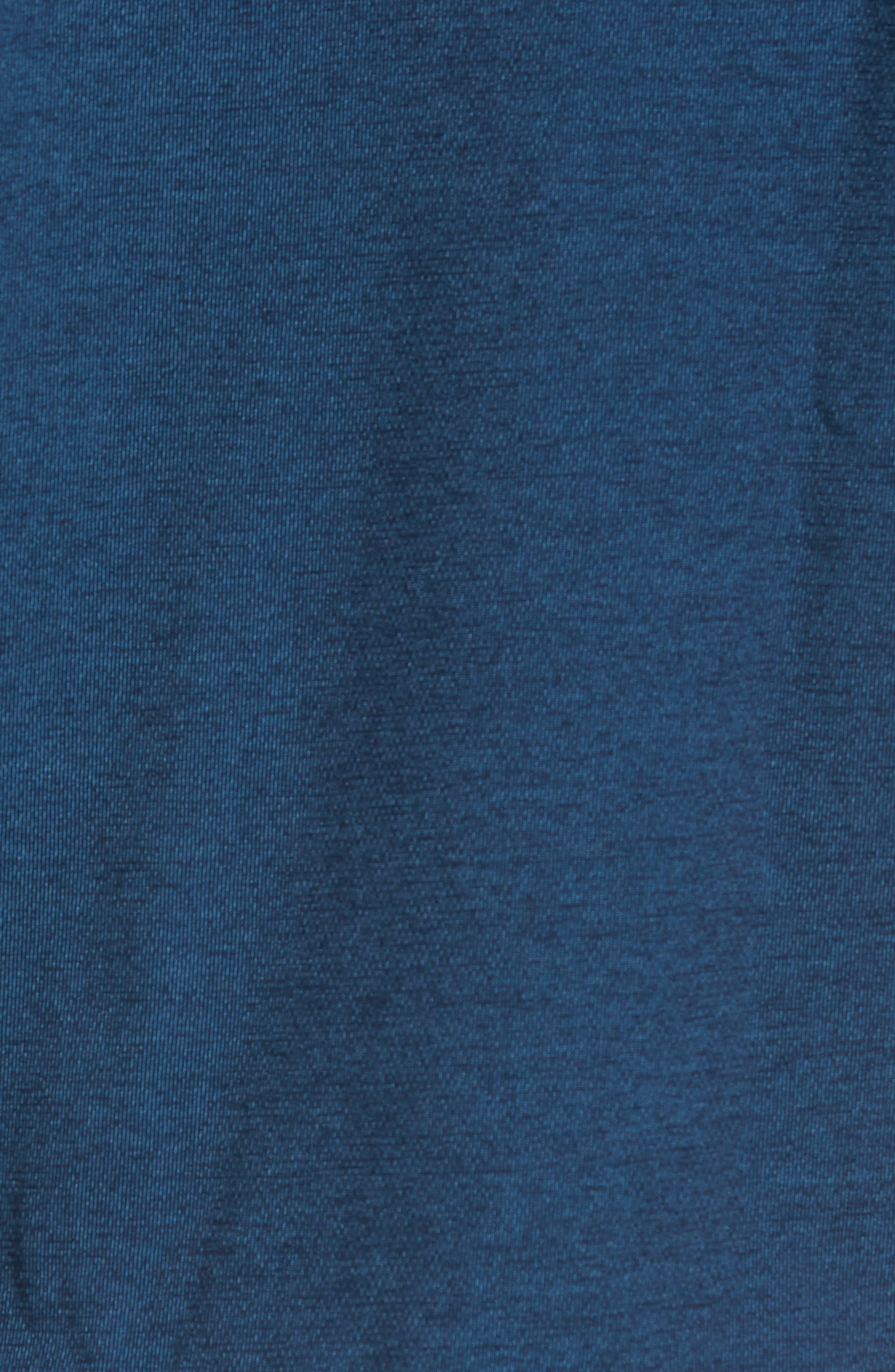 Contemporary Fit Tech Knit Sport Shirt,                             Alternate thumbnail 5, color,                             Navy