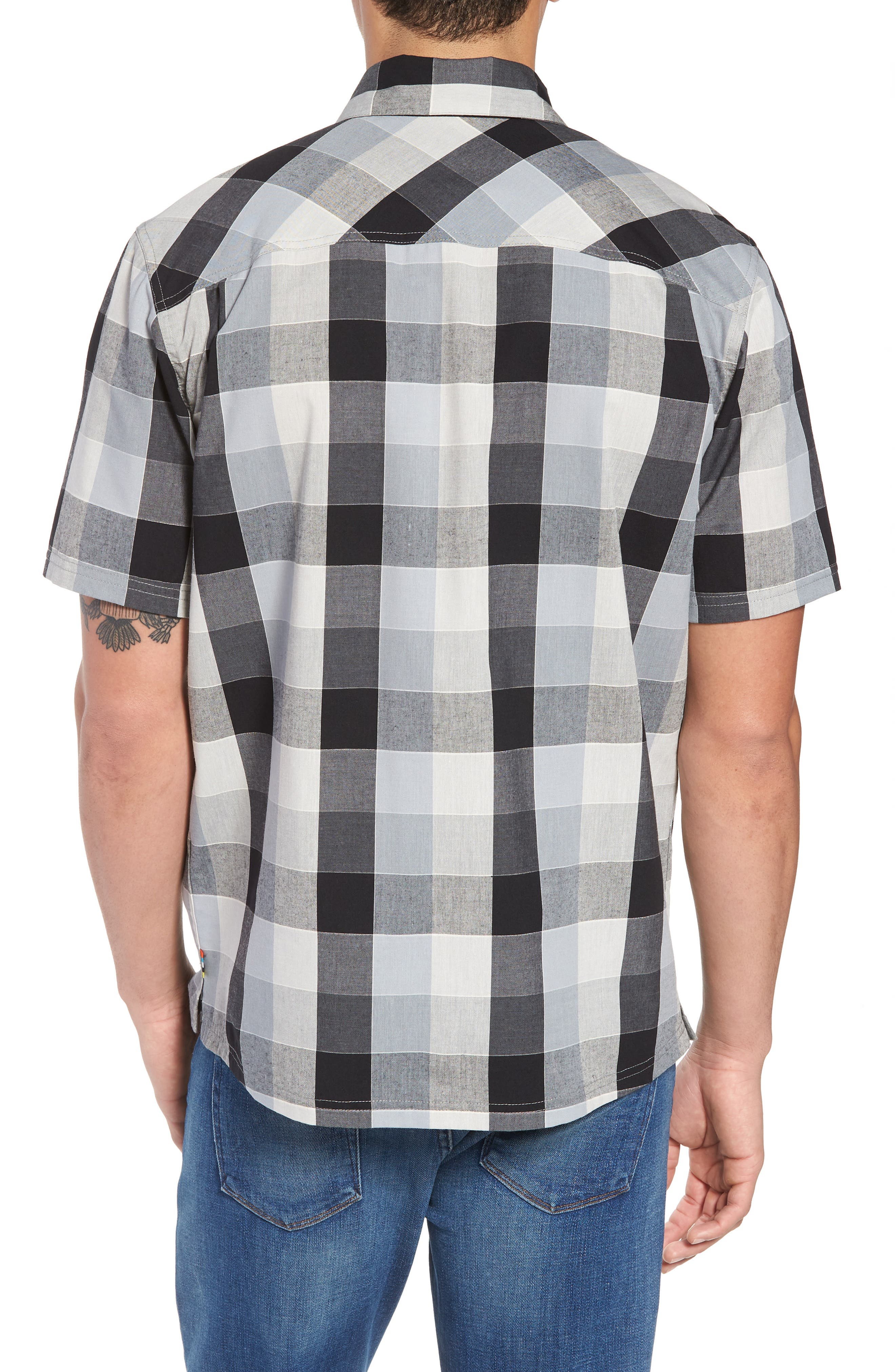 Everyday Exploration Short Sleeve Sport Shirt,                             Alternate thumbnail 2, color,                             Light Grey
