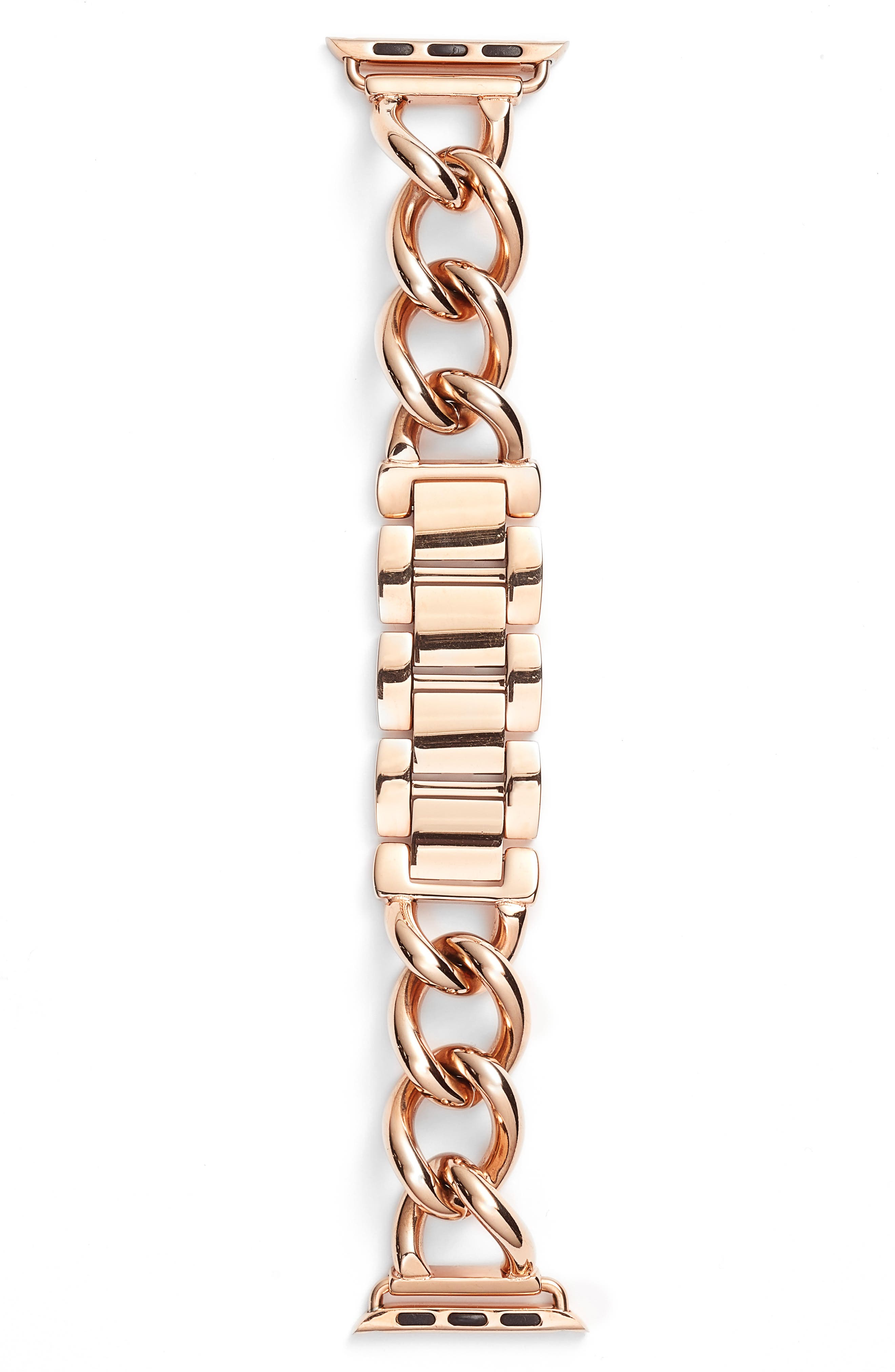Bezels & Bytes Chunky Chain Apple Watch Band, 38mm,                             Main thumbnail 1, color,                             Rose Gold