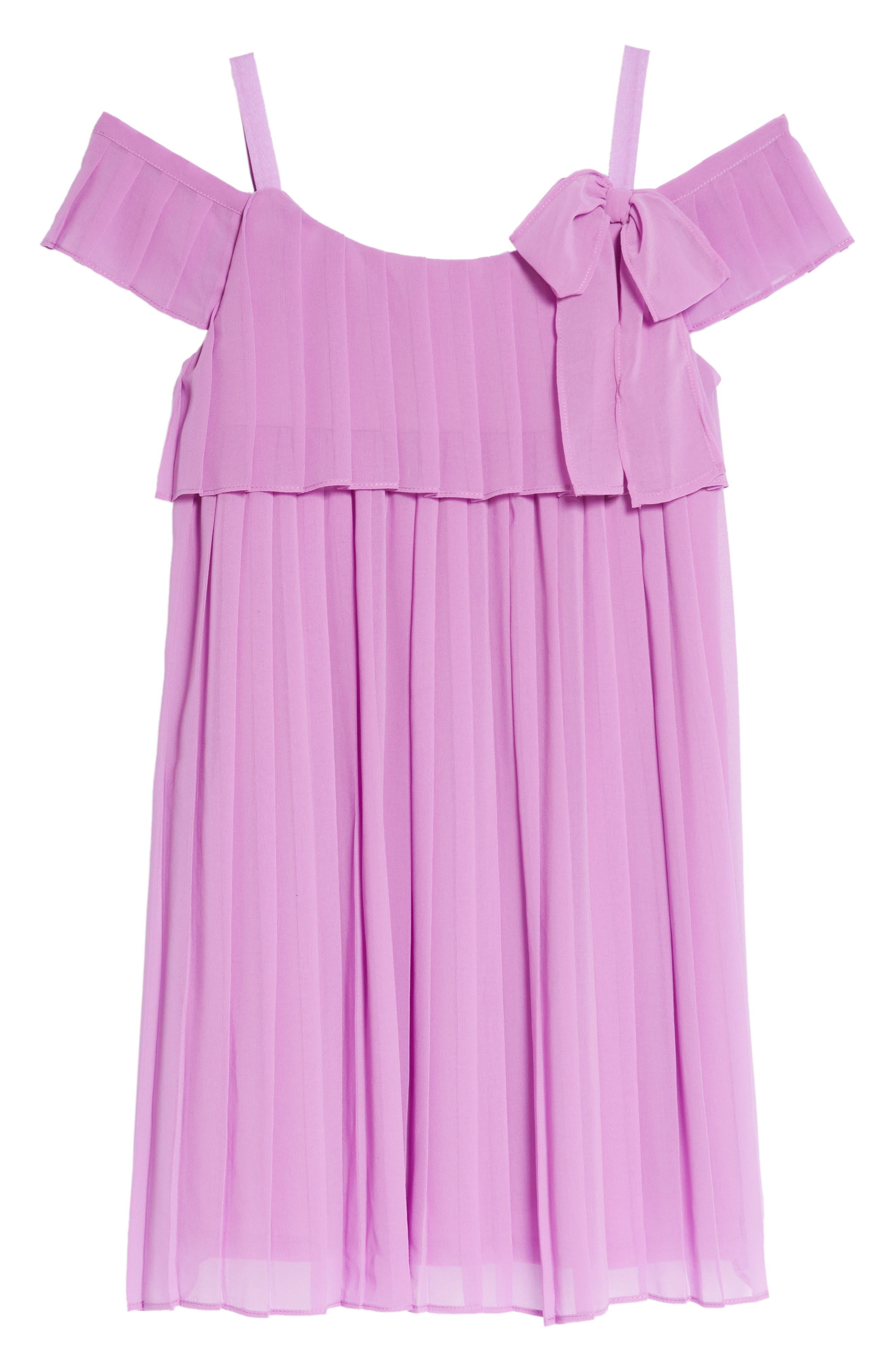 Chiffon Cold Shoulder Dress,                         Main,                         color, Lavander