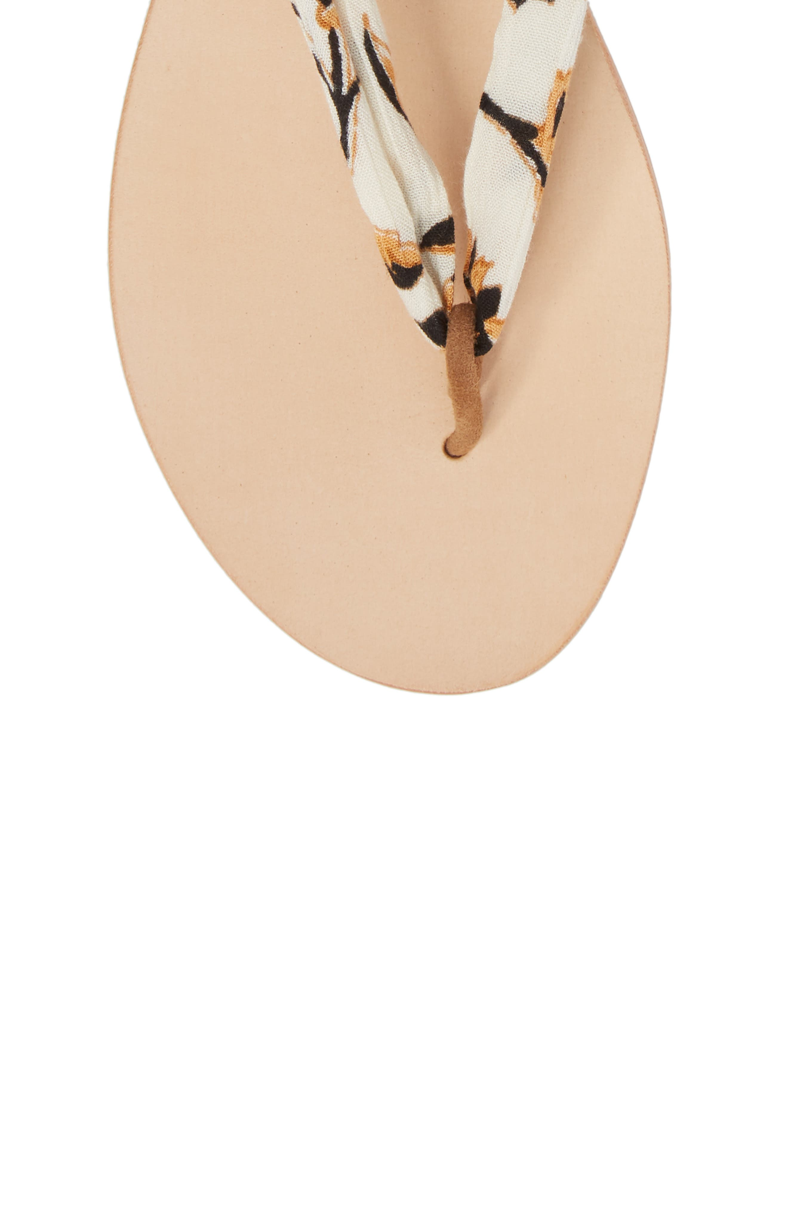 Amuse Society x Matisse Oceano Lace-Up Sandal,                             Alternate thumbnail 5, color,                             Natural Fabric