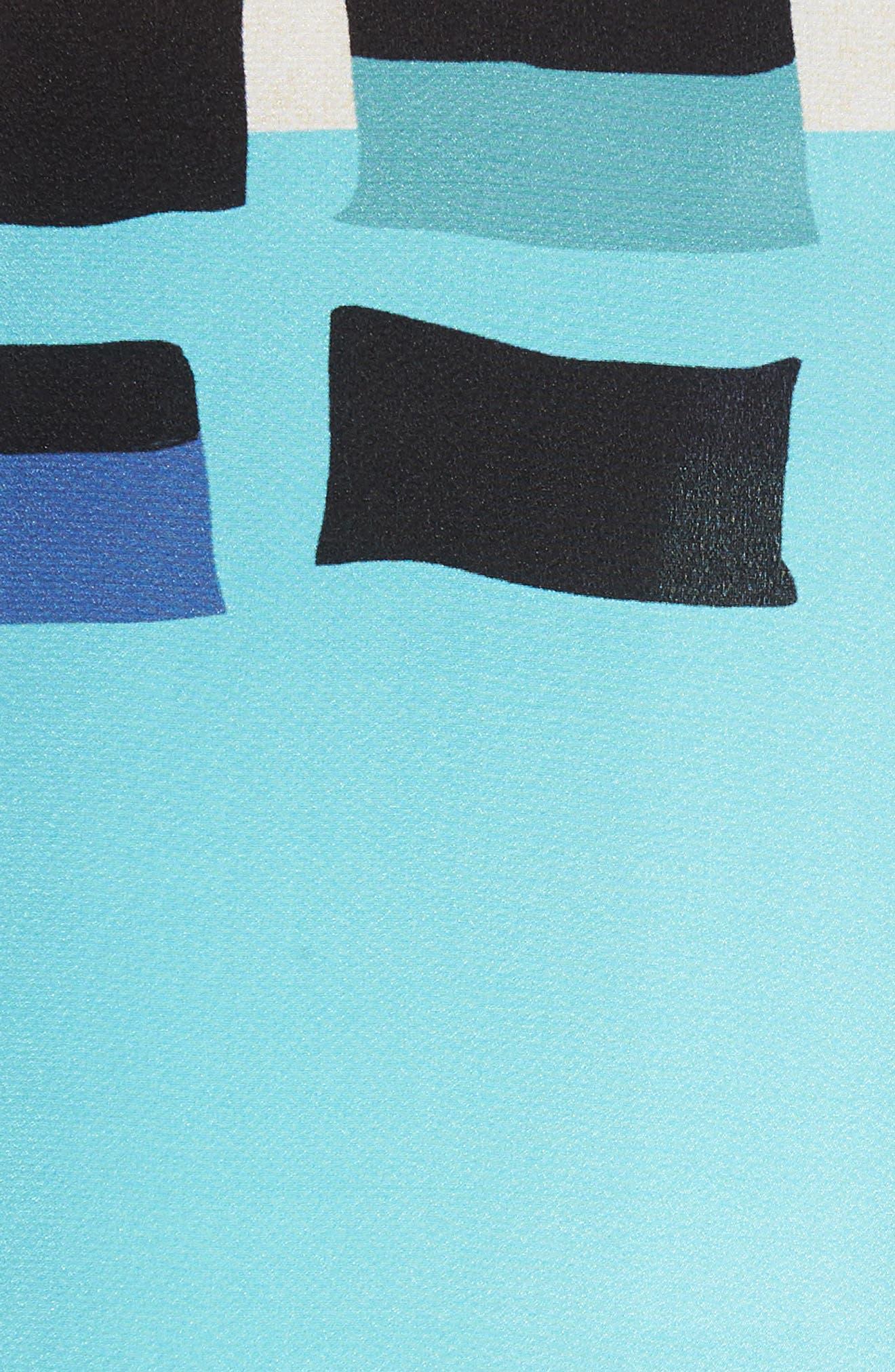From Above Silk Blend Skirt,                             Alternate thumbnail 4, color,                             Multi