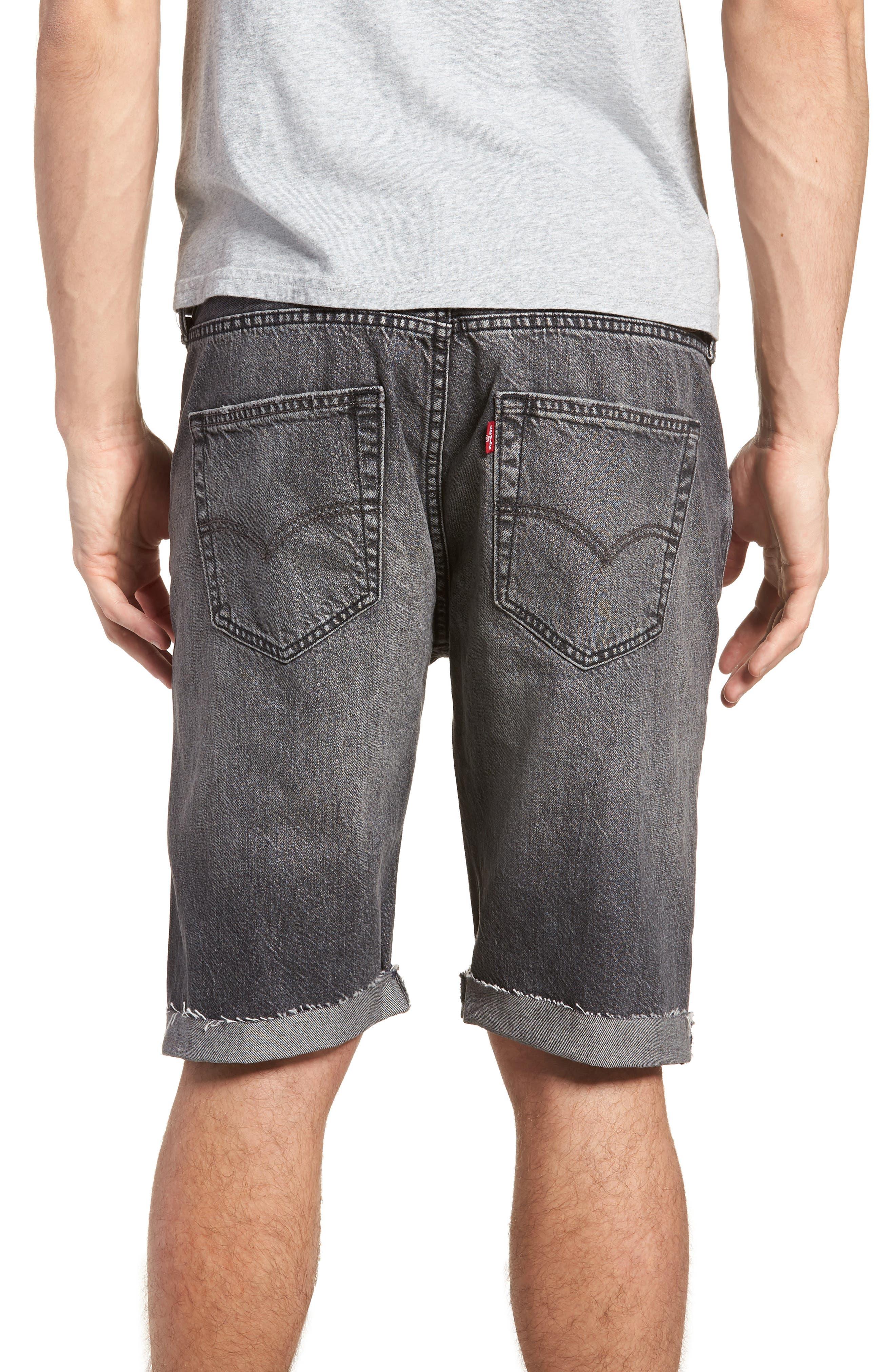 501<sup>®</sup> Cutoff Denim Shorts,                             Alternate thumbnail 2, color,                             Black Hawaii