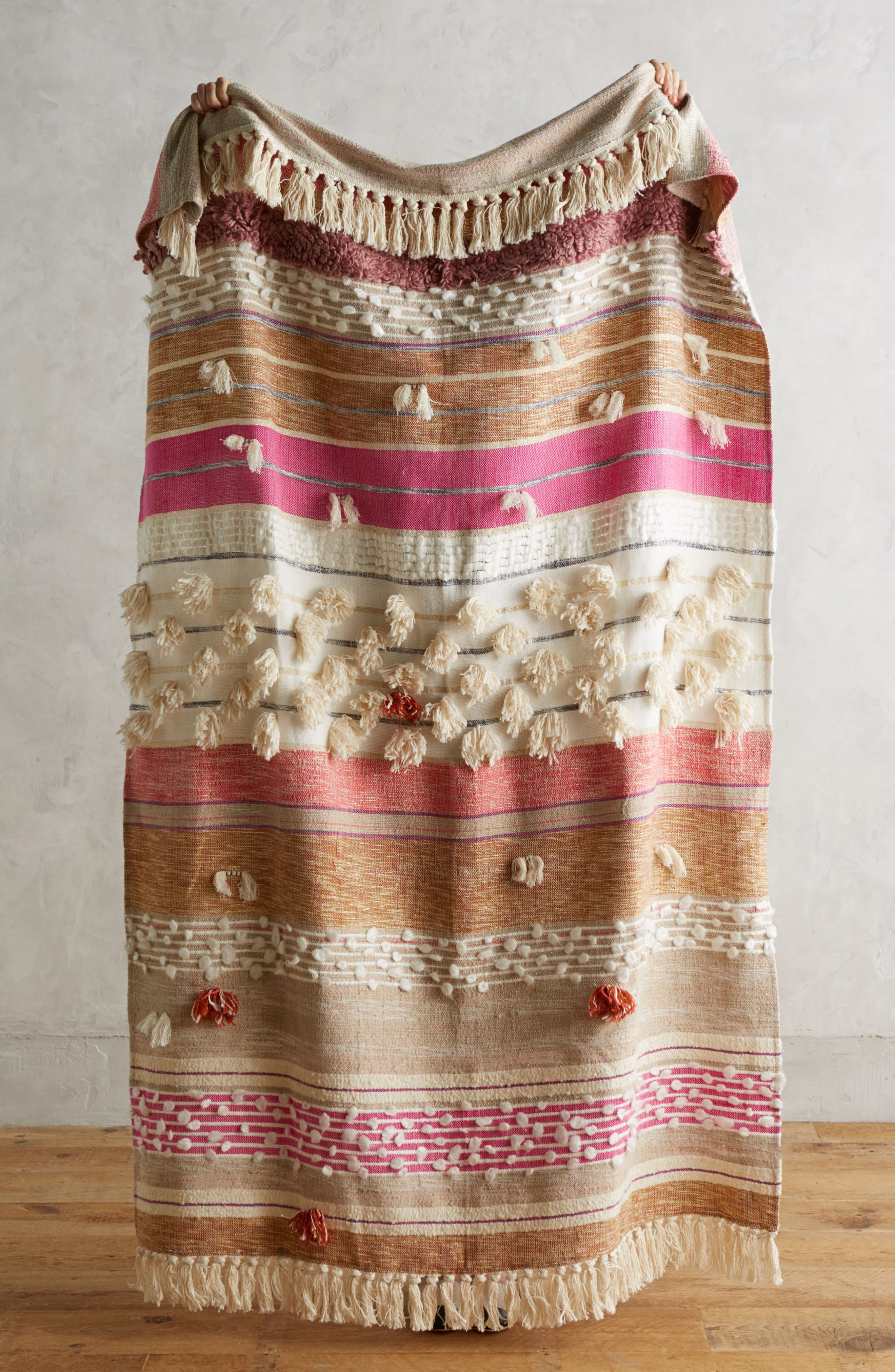 Open Market Throw,                         Main,                         color, Pink