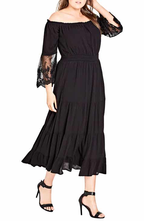 City Chic Ethereal Maxi Dress (Plus Size) d963e6224