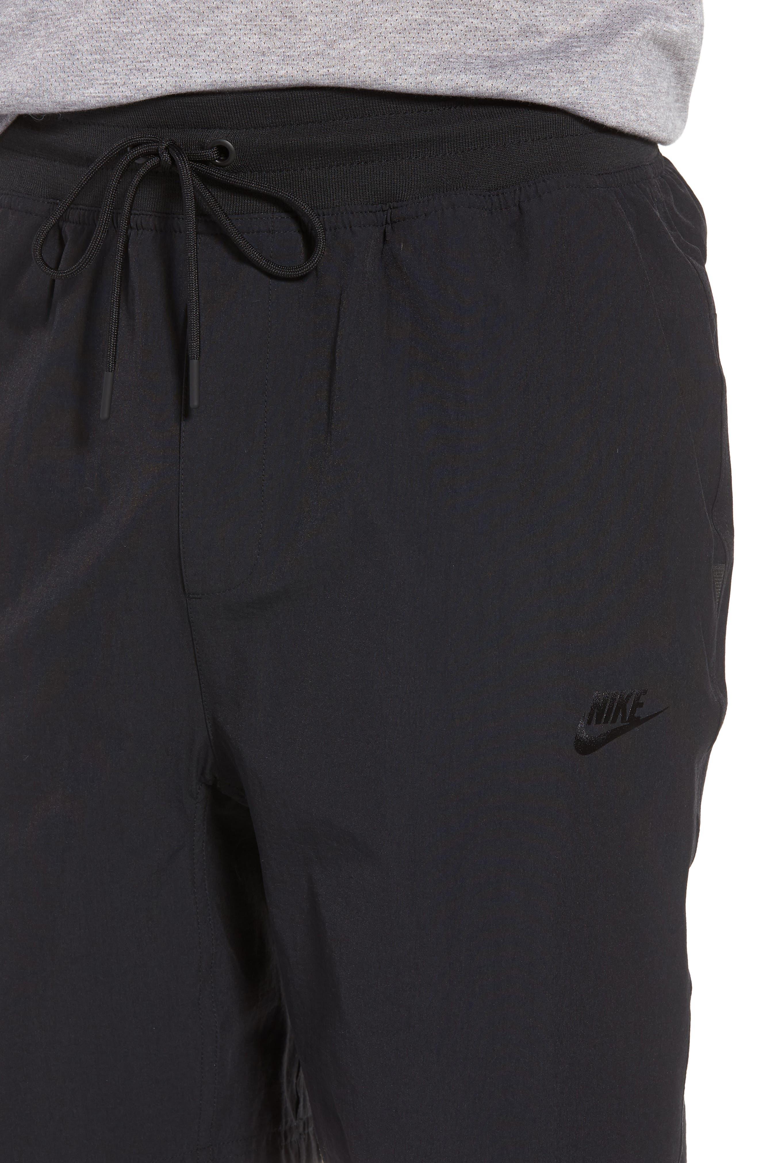 Sportswear Woven Shorts,                             Alternate thumbnail 4, color,                             Black/ Black