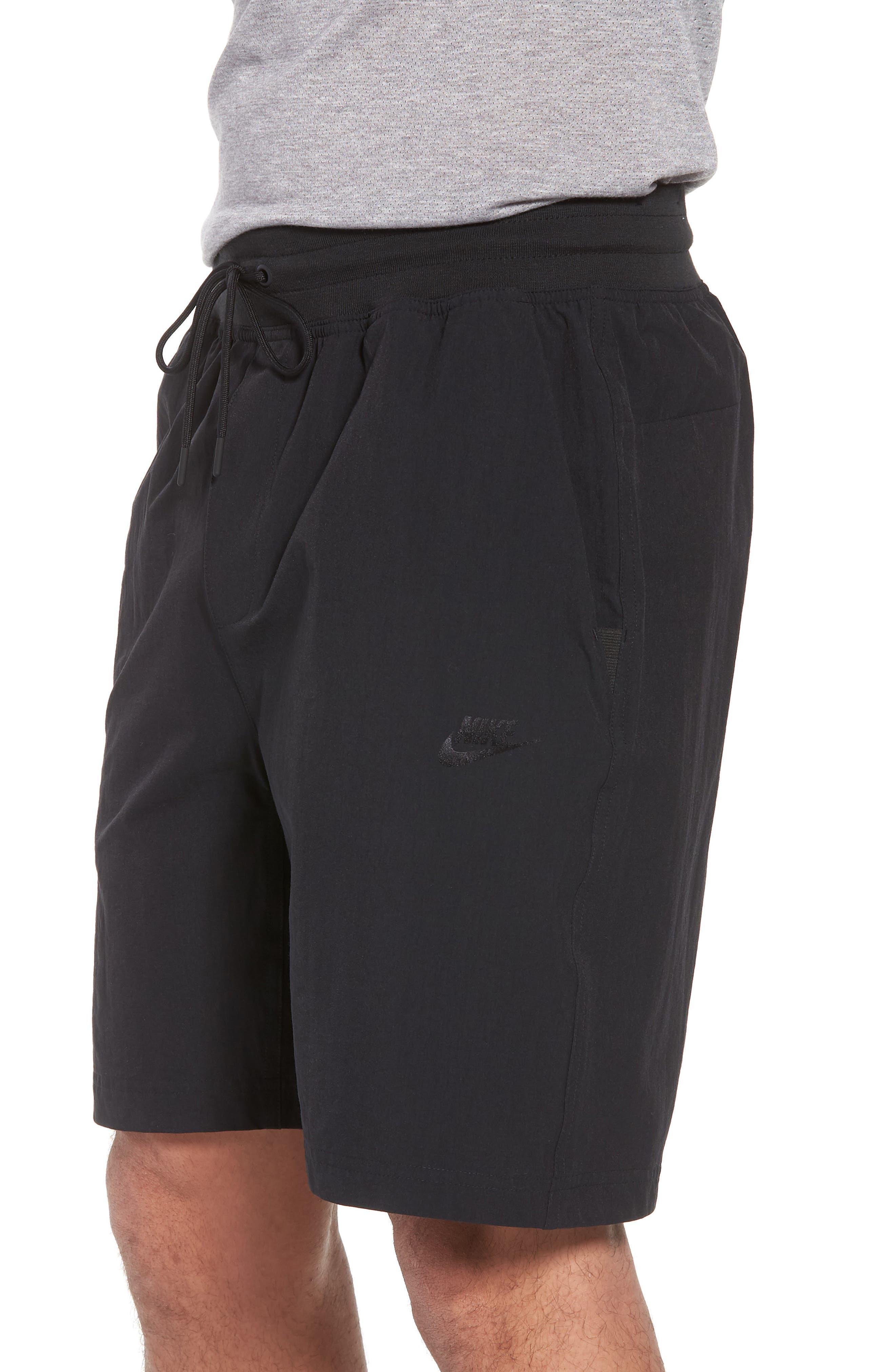 Sportswear Woven Shorts,                             Alternate thumbnail 3, color,                             Black/ Black