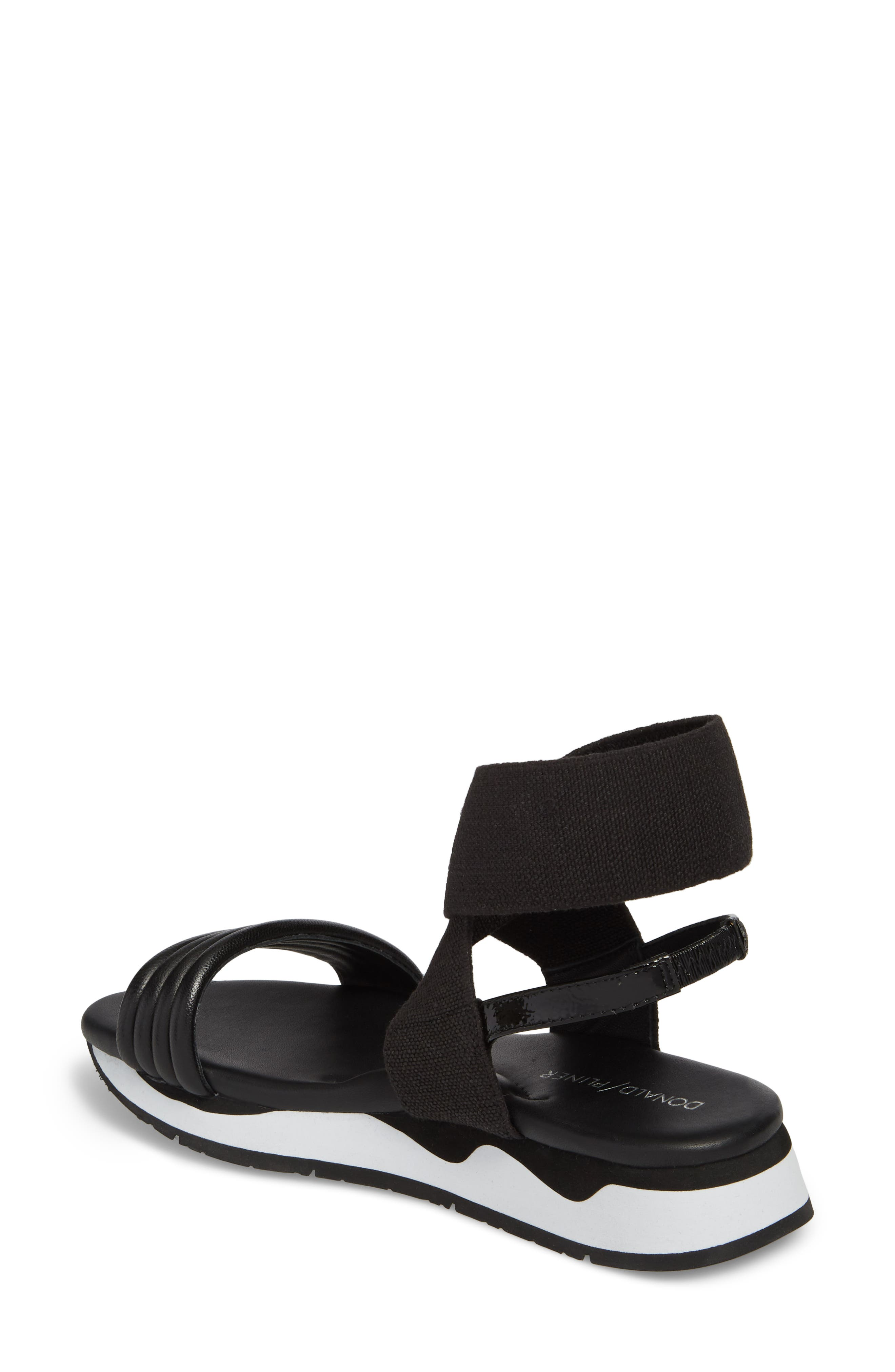 Shaye Ankle Strap Sandal,                             Alternate thumbnail 2, color,                             Black Leather