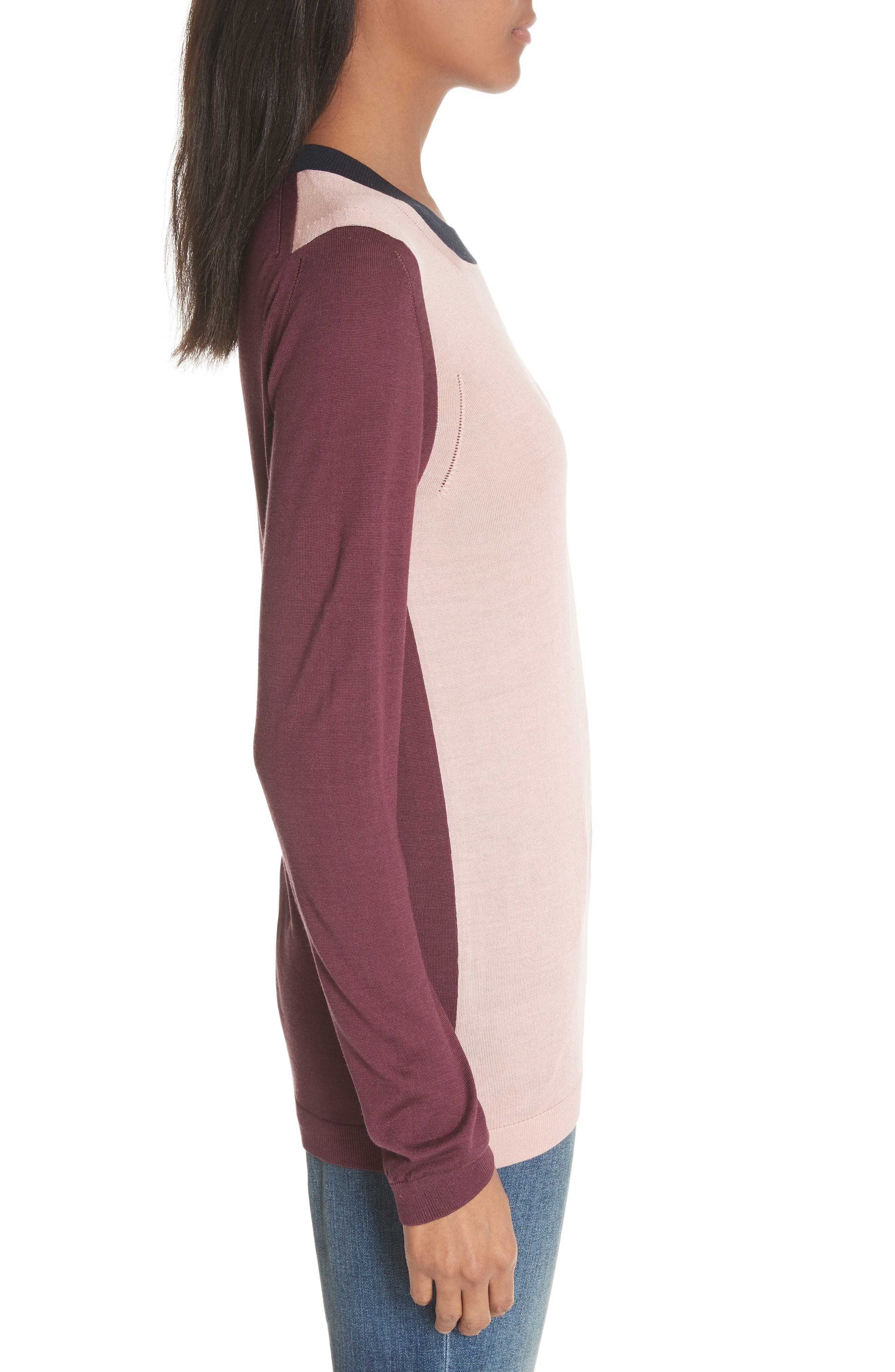 Buck 57 Silk & Cashmere Sweater,                             Alternate thumbnail 3, color,                             Pink Apricot