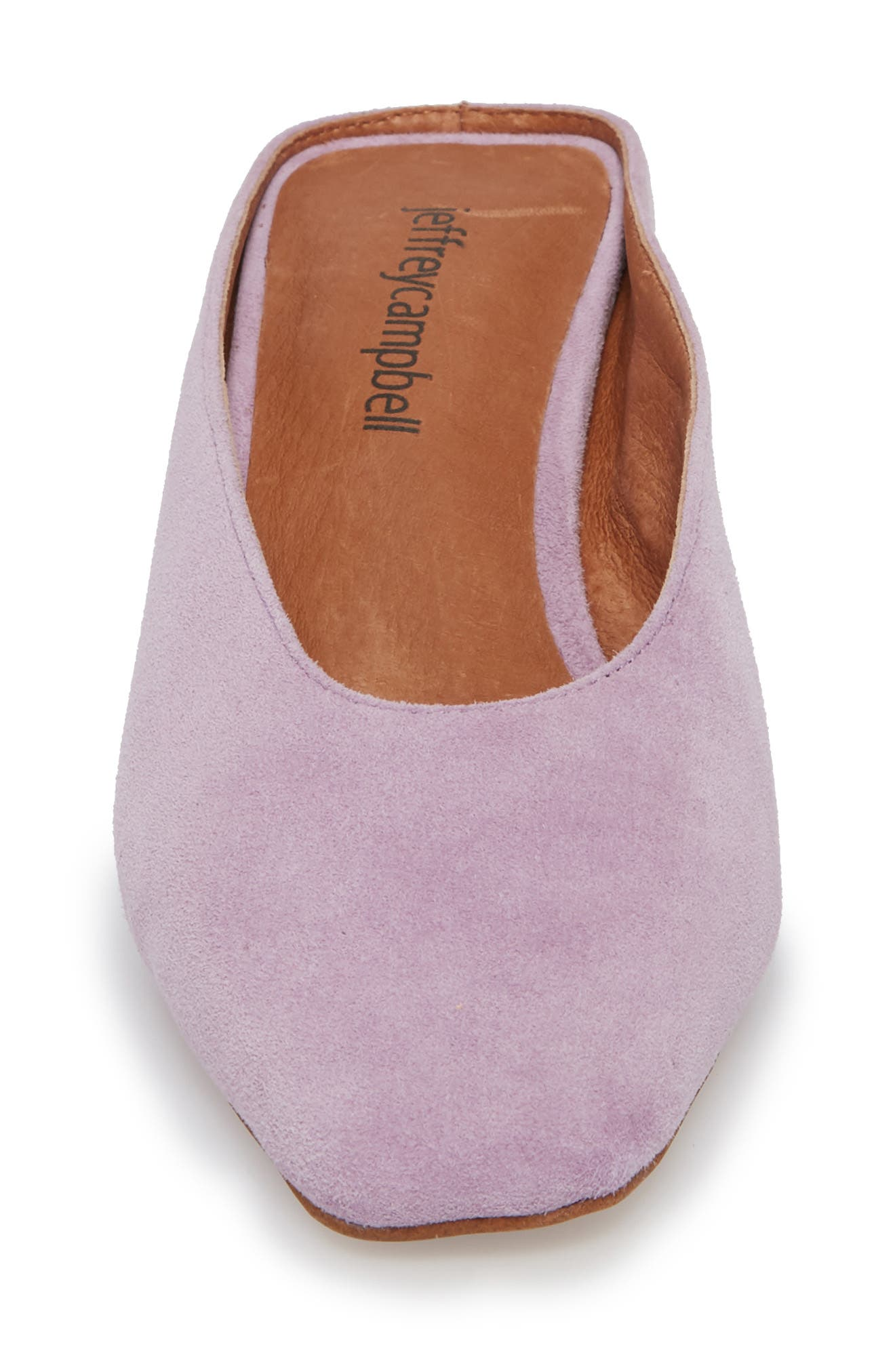 Cryptic Statement Heel Mule,                             Alternate thumbnail 4, color,                             Lilac Suede